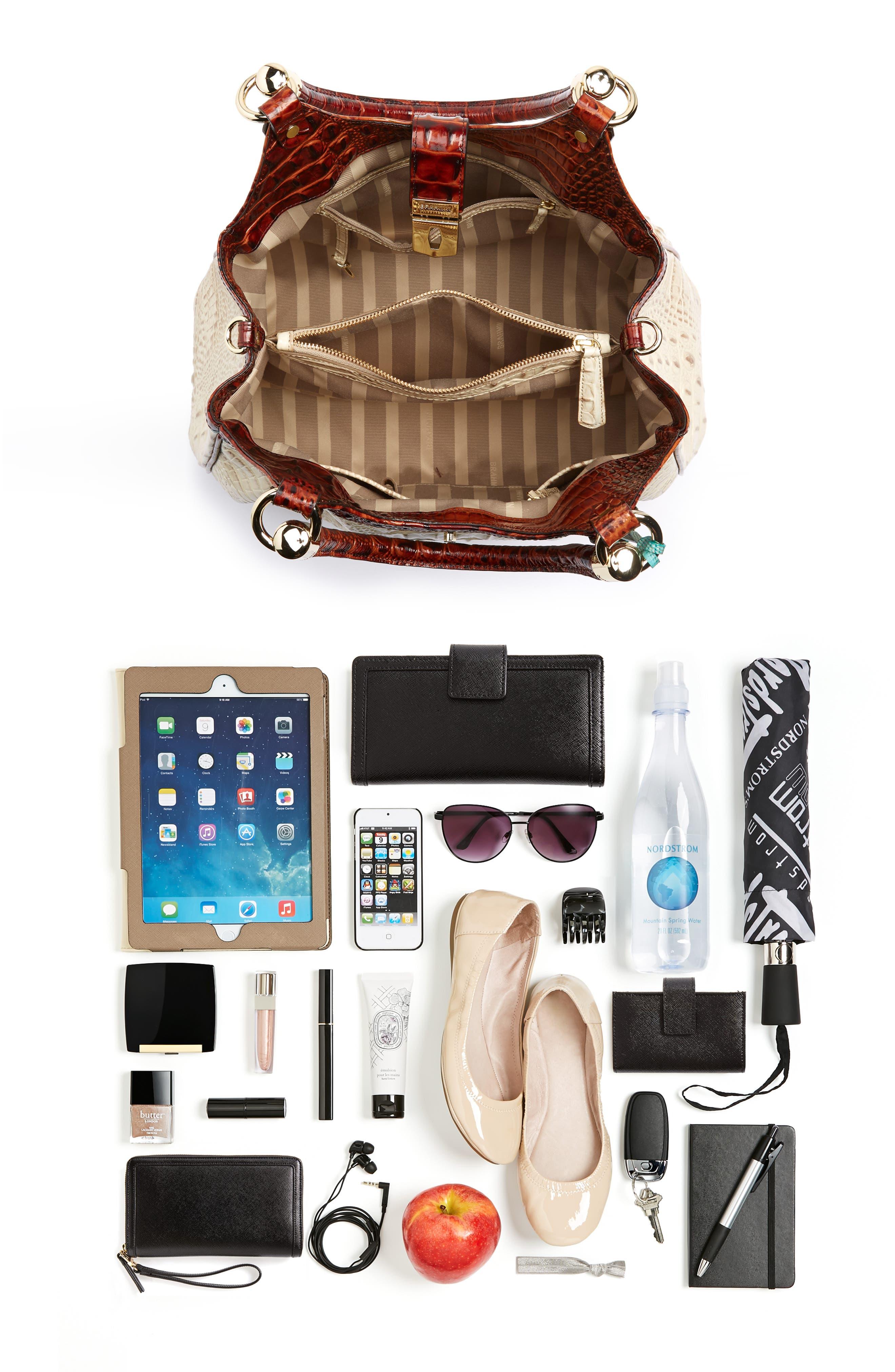 Elisa Leather Shoulder Bag,                             Alternate thumbnail 7, color,                             VANILLA