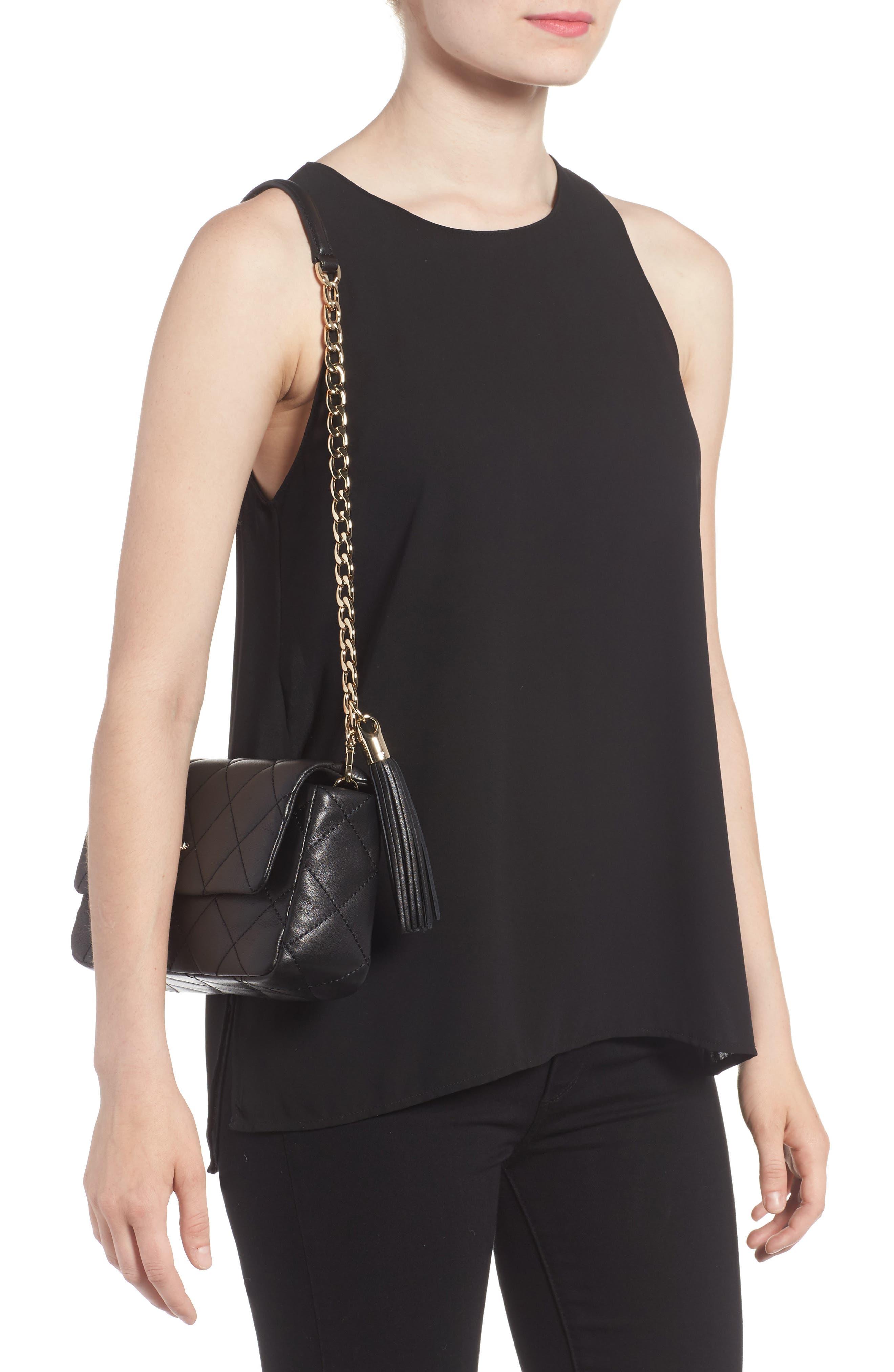 emerson place - serena leather shoulder bag,                             Alternate thumbnail 4, color,