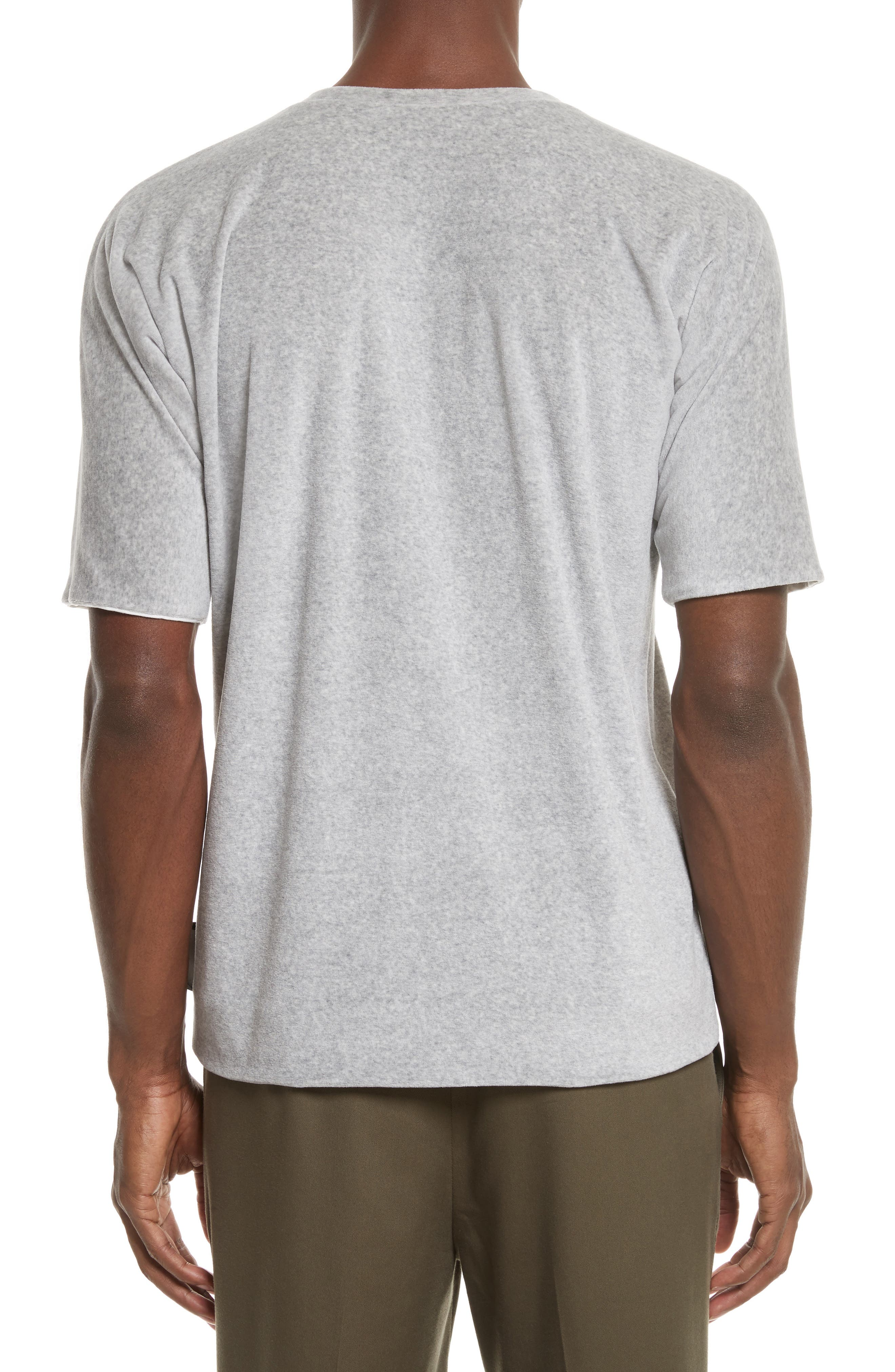 Reversible Double Layer T-Shirt,                             Alternate thumbnail 3, color,                             LIGHT GREY