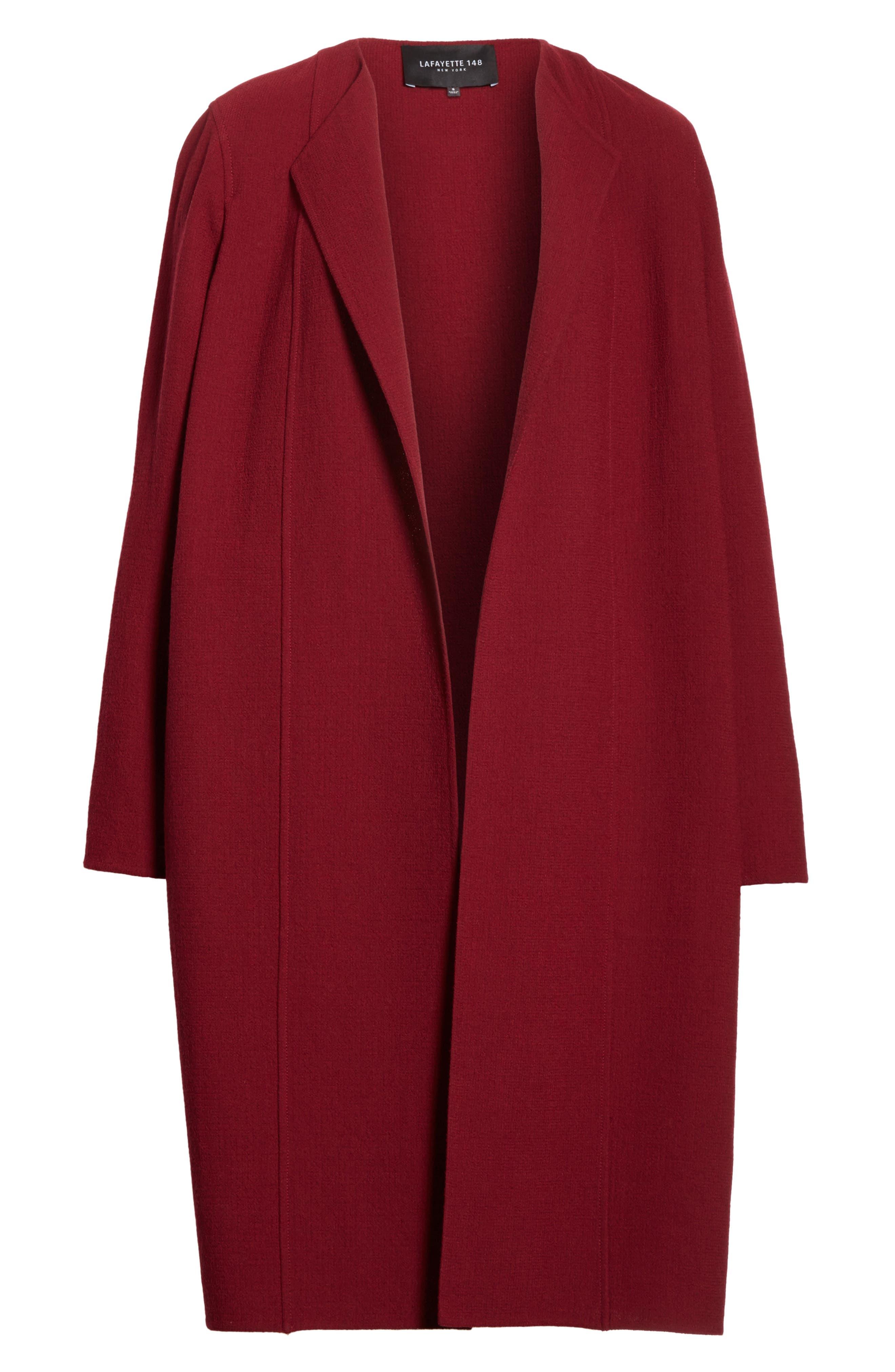 Robyn Nouveau Crepe Coat,                             Alternate thumbnail 5, color,