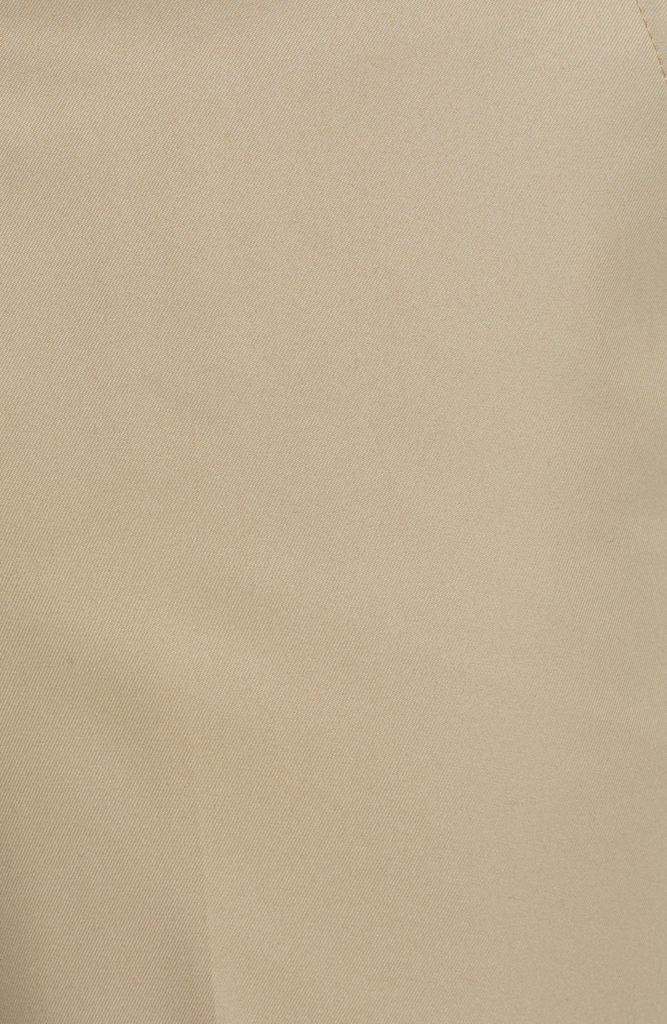 Classic Fit Flat Front Microfiber Performance Trousers,                             Alternate thumbnail 5, color,                             TAN