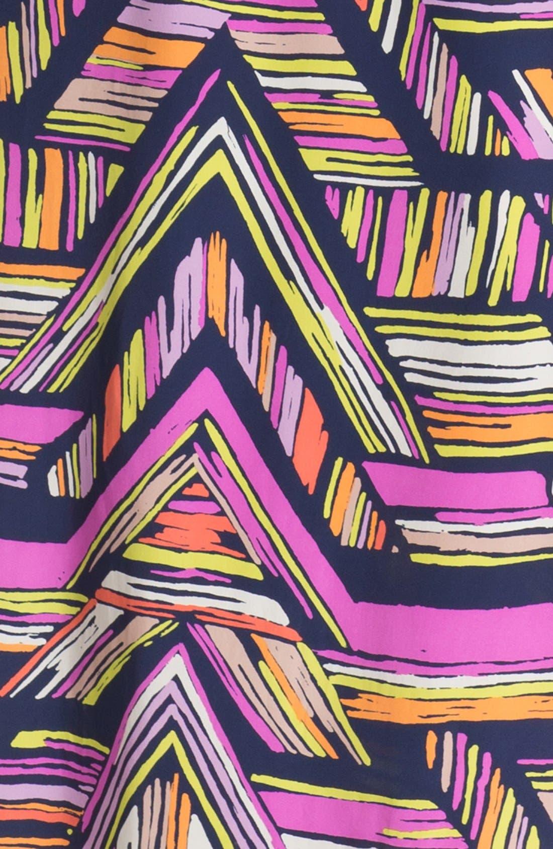 'Nia' Print Cutaway Maxi Dress,                             Alternate thumbnail 4, color,                             410