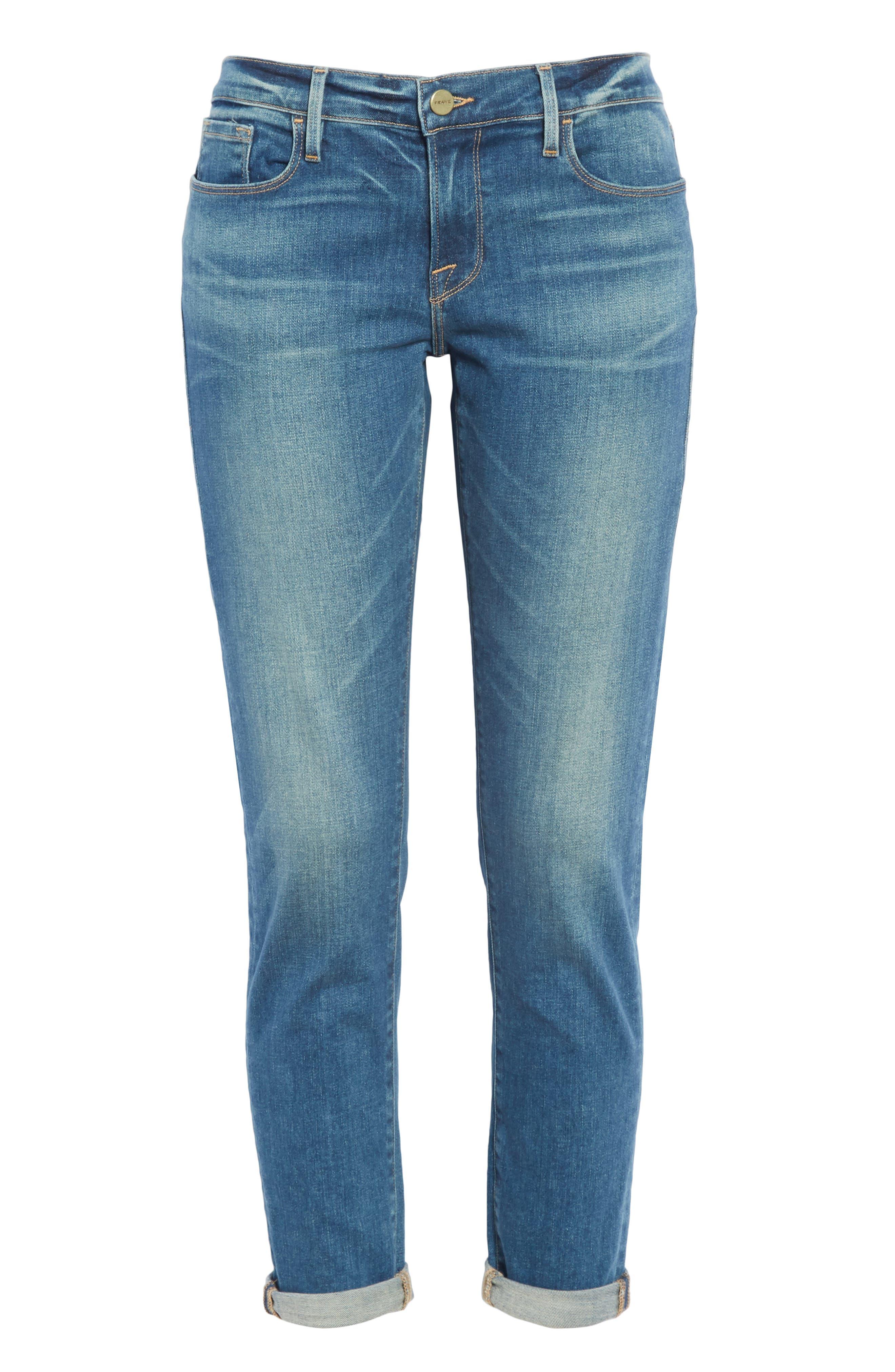 Le Garcon Slim Boyfriend Jeans,                             Alternate thumbnail 7, color,                             BERKLEY SQUARE