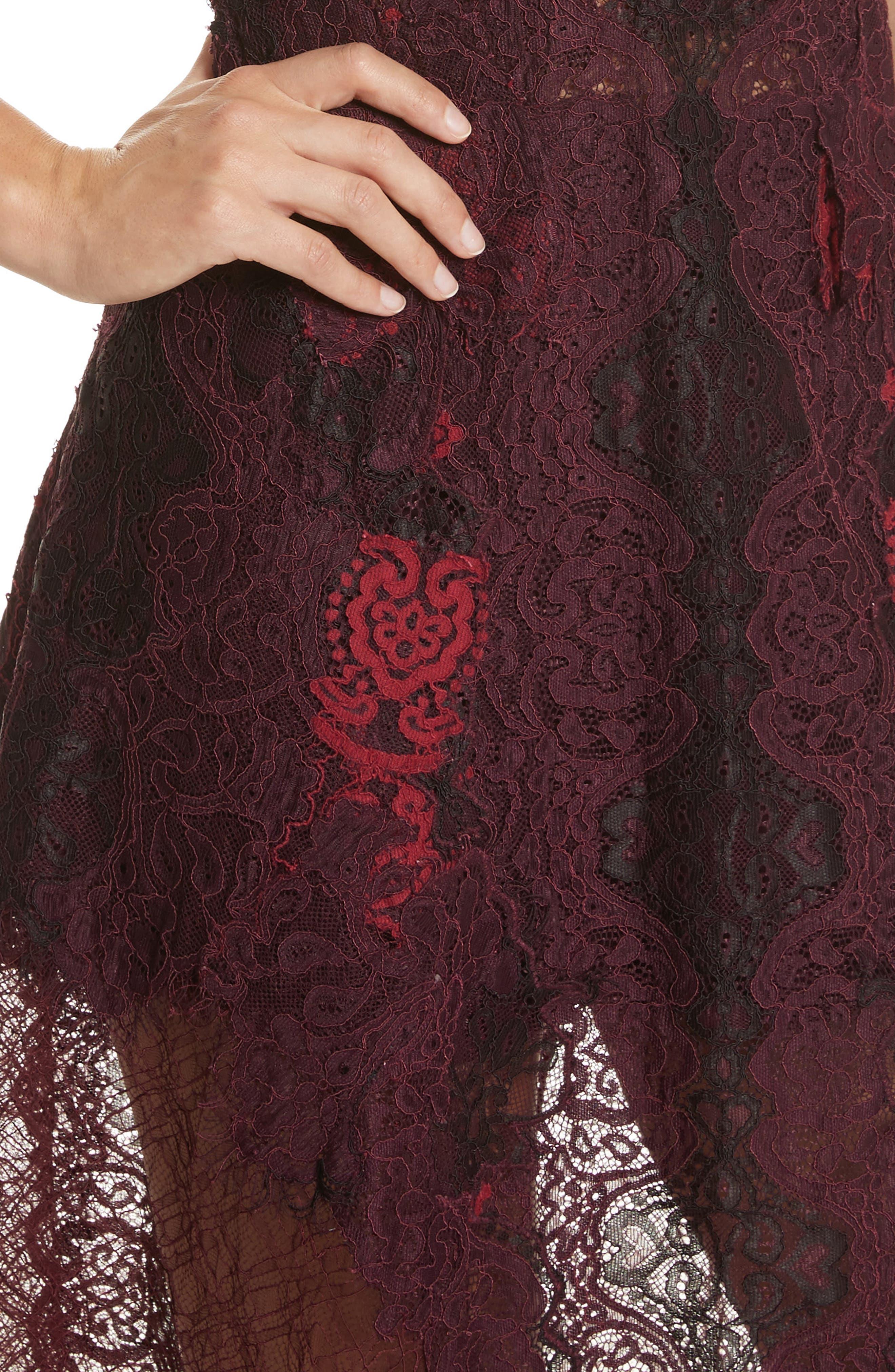 Grommet Detail Lace Dress,                             Alternate thumbnail 4, color,