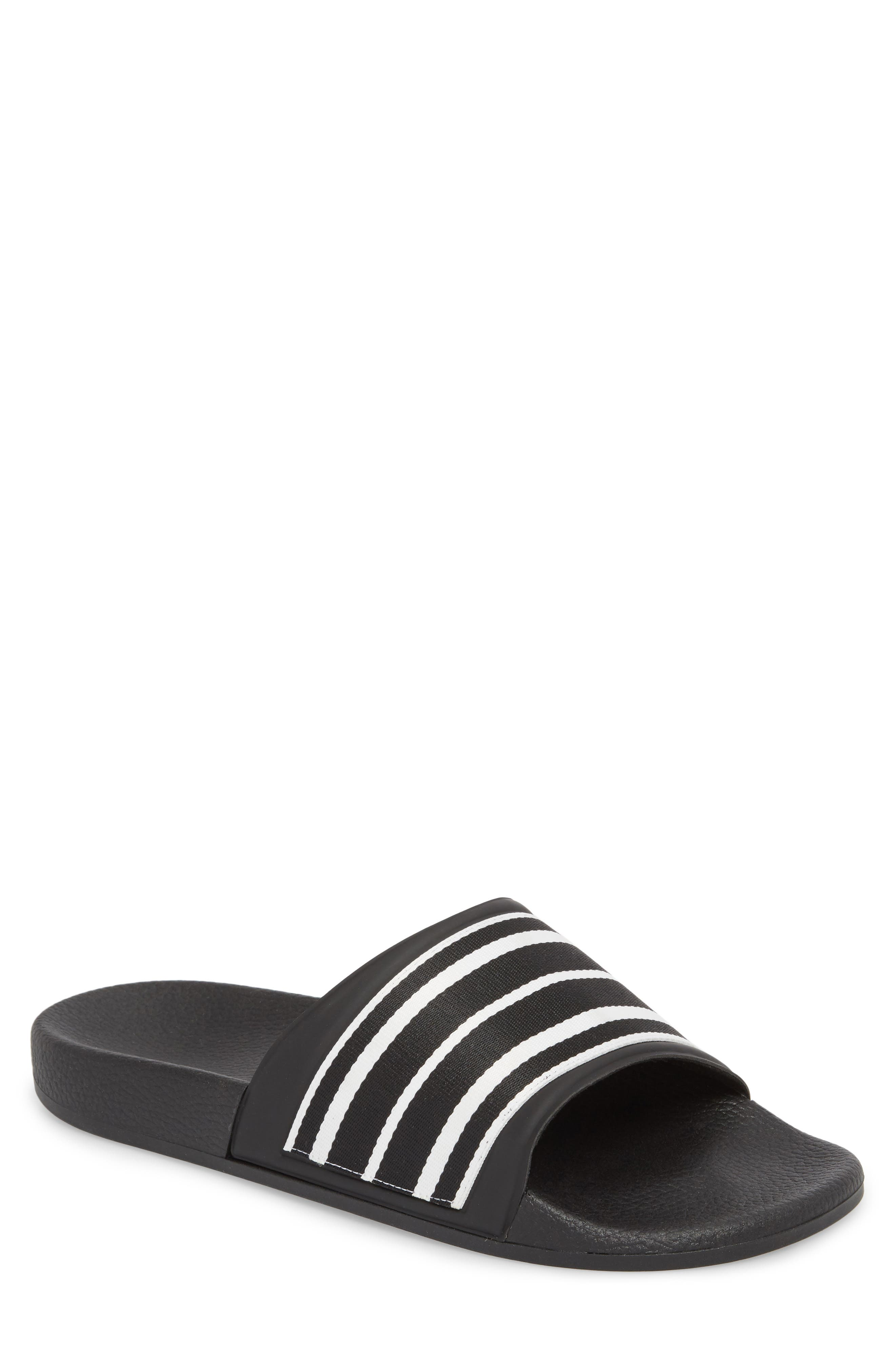 Patterned Sport Slide,                             Main thumbnail 1, color,                             BLACK/ BLACK