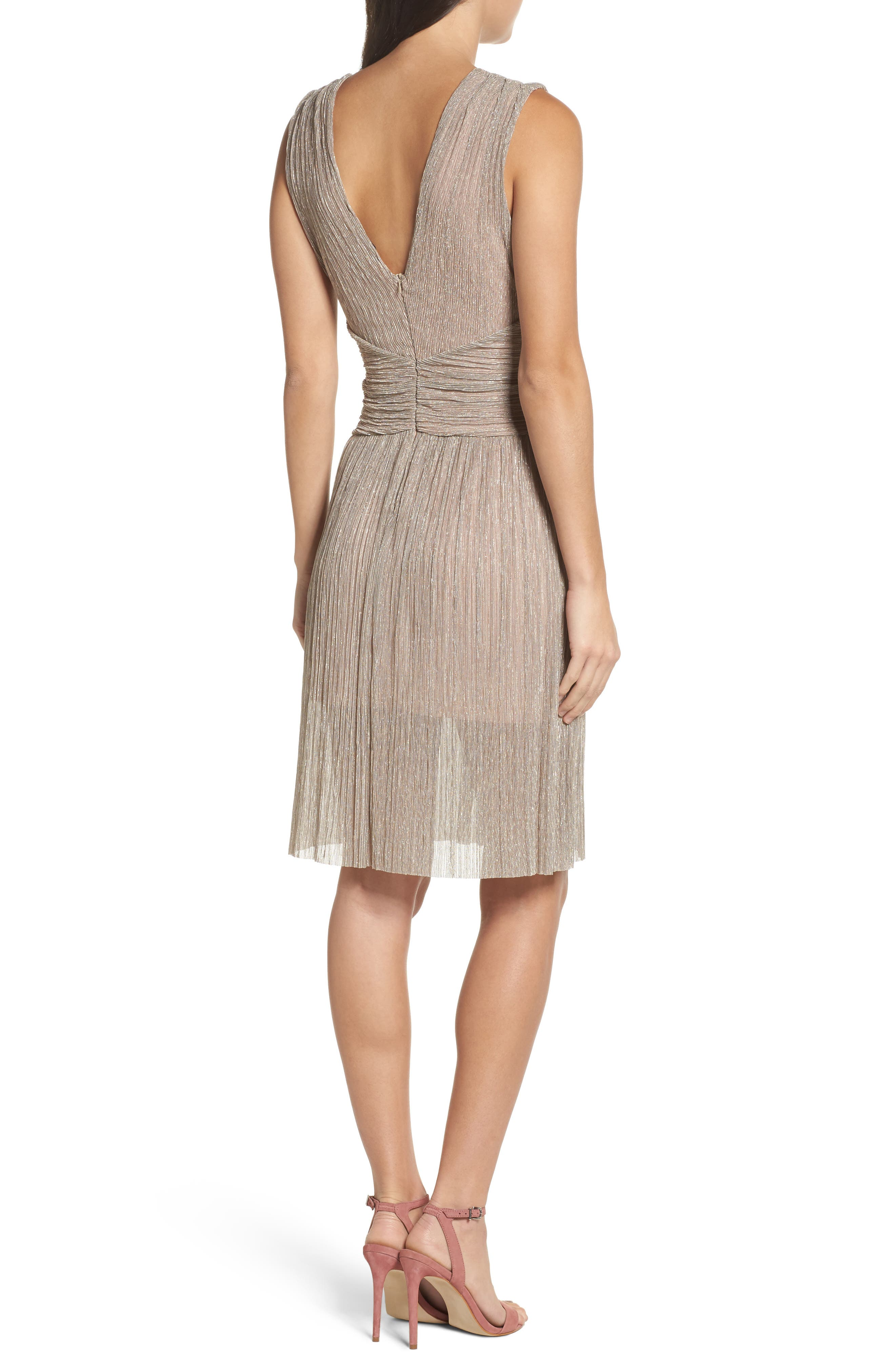 Marcelle Fit & Flare Dress,                             Alternate thumbnail 4, color,