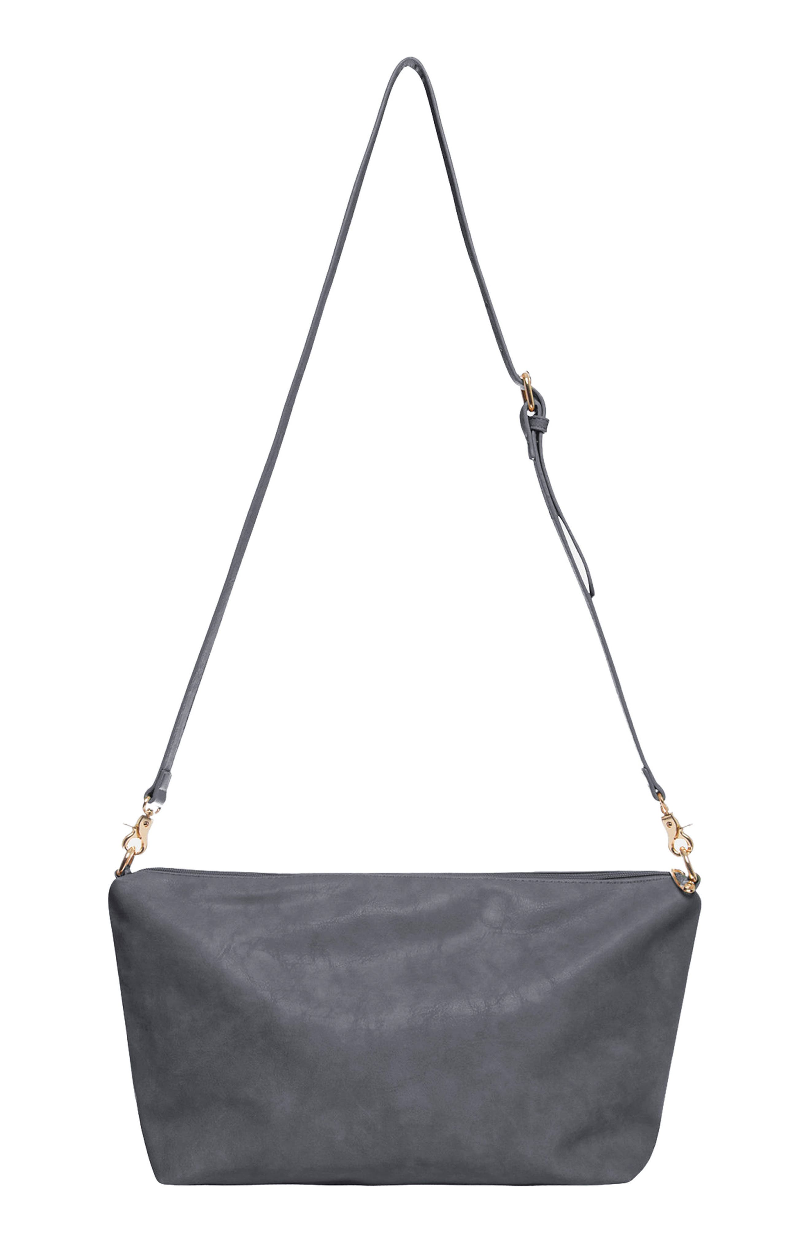Masterpiece Perforated Vegan Leather Tote,                         Main,                         color, STONE GREY