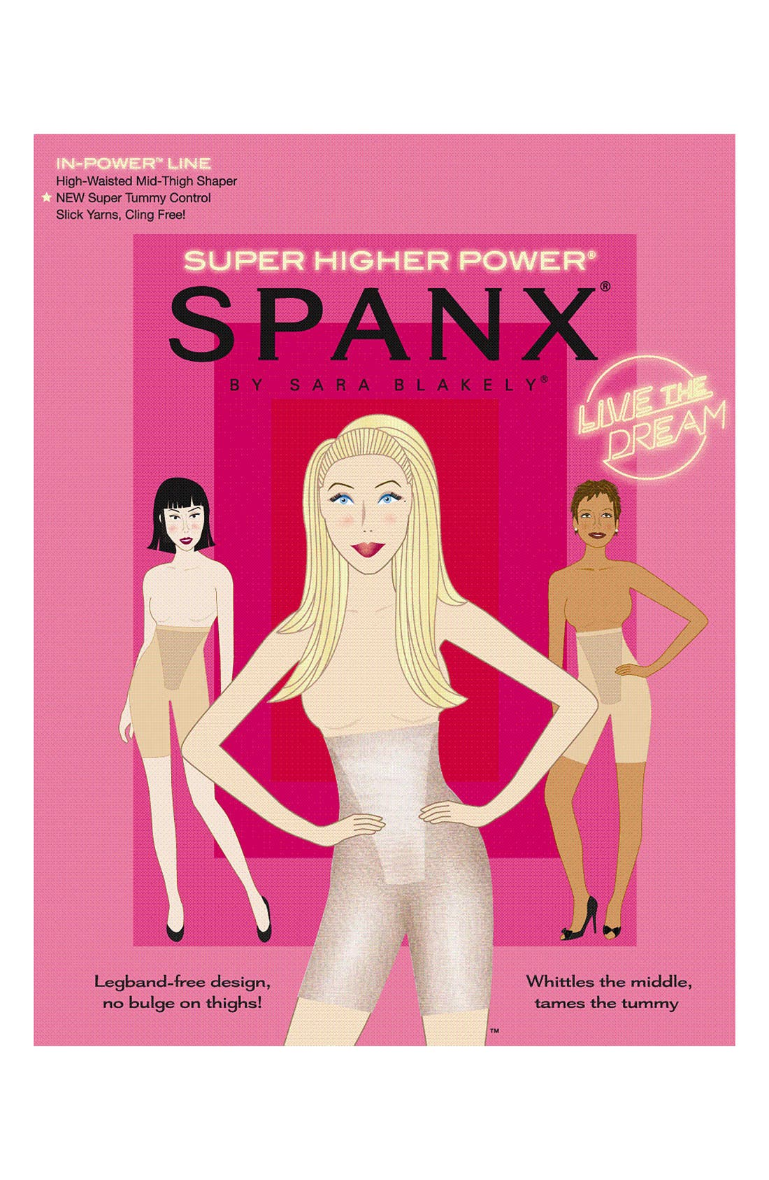 SPANX<SUP>®</SUP>,                             'In-Power Line' Super Higher Power Tummy Control Shaper,                             Alternate thumbnail 6, color,                             001