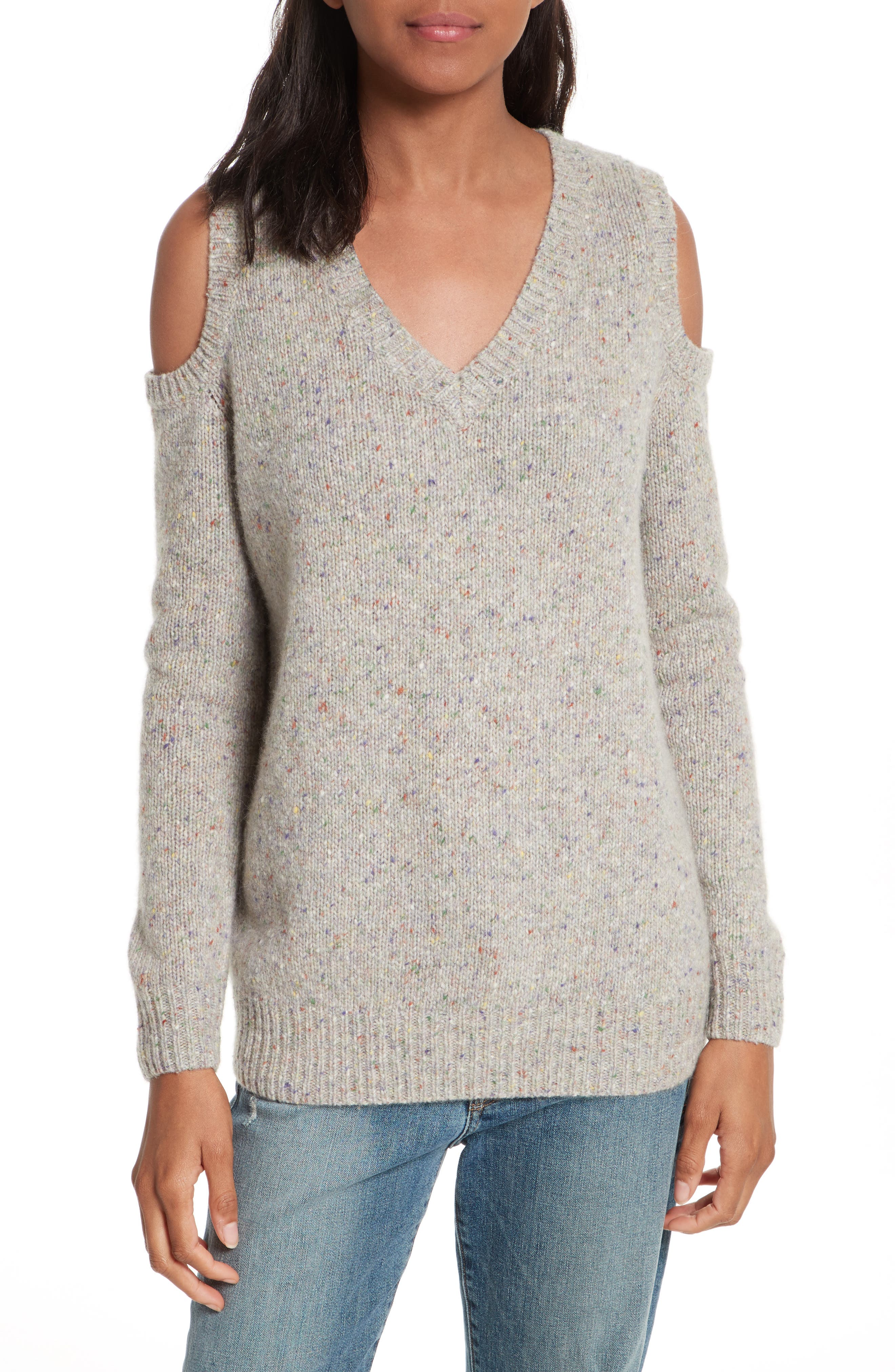 Page Cold Shoulder Sweater,                             Main thumbnail 3, color,