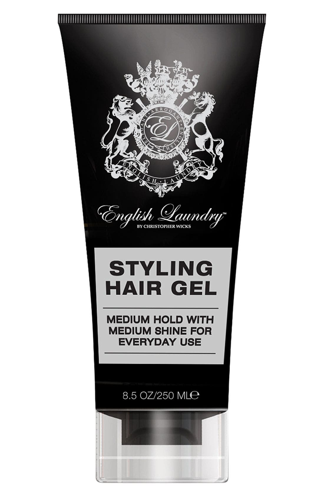 Styling Hair Gel,                             Main thumbnail 1, color,                             000