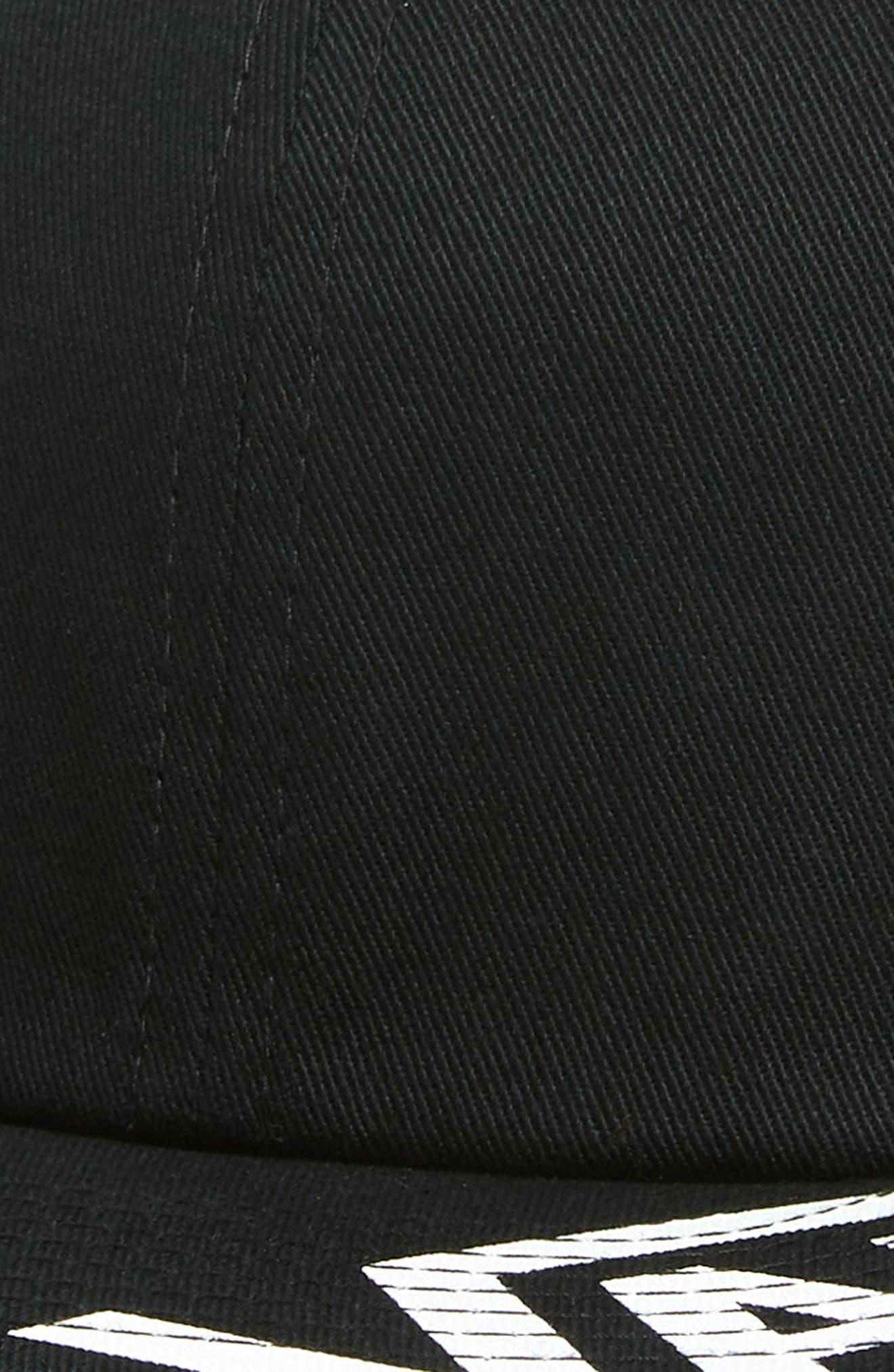 Distort Logo Baseball Cap,                             Alternate thumbnail 3, color,                             BLACK