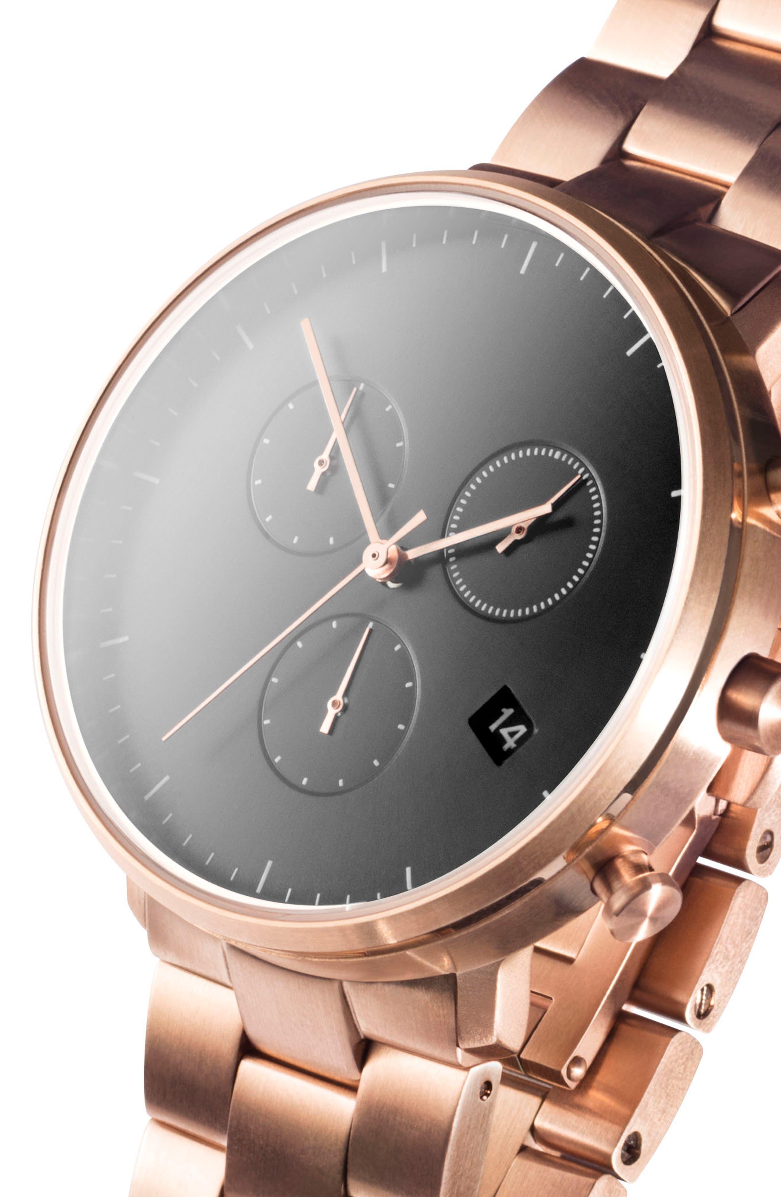 Leonard & Church Bleeker Chronograph Bracelet Watch, 40mm,                             Alternate thumbnail 12, color,