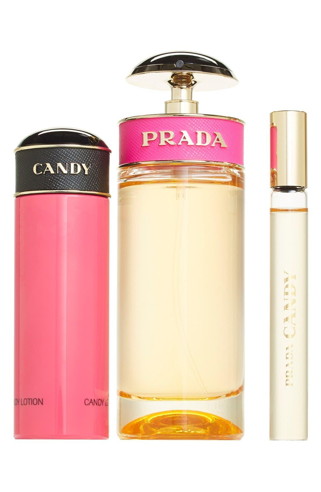 PRADA,                             'Candy' Eau de Parfum Set,                             Alternate thumbnail 3, color,                             000