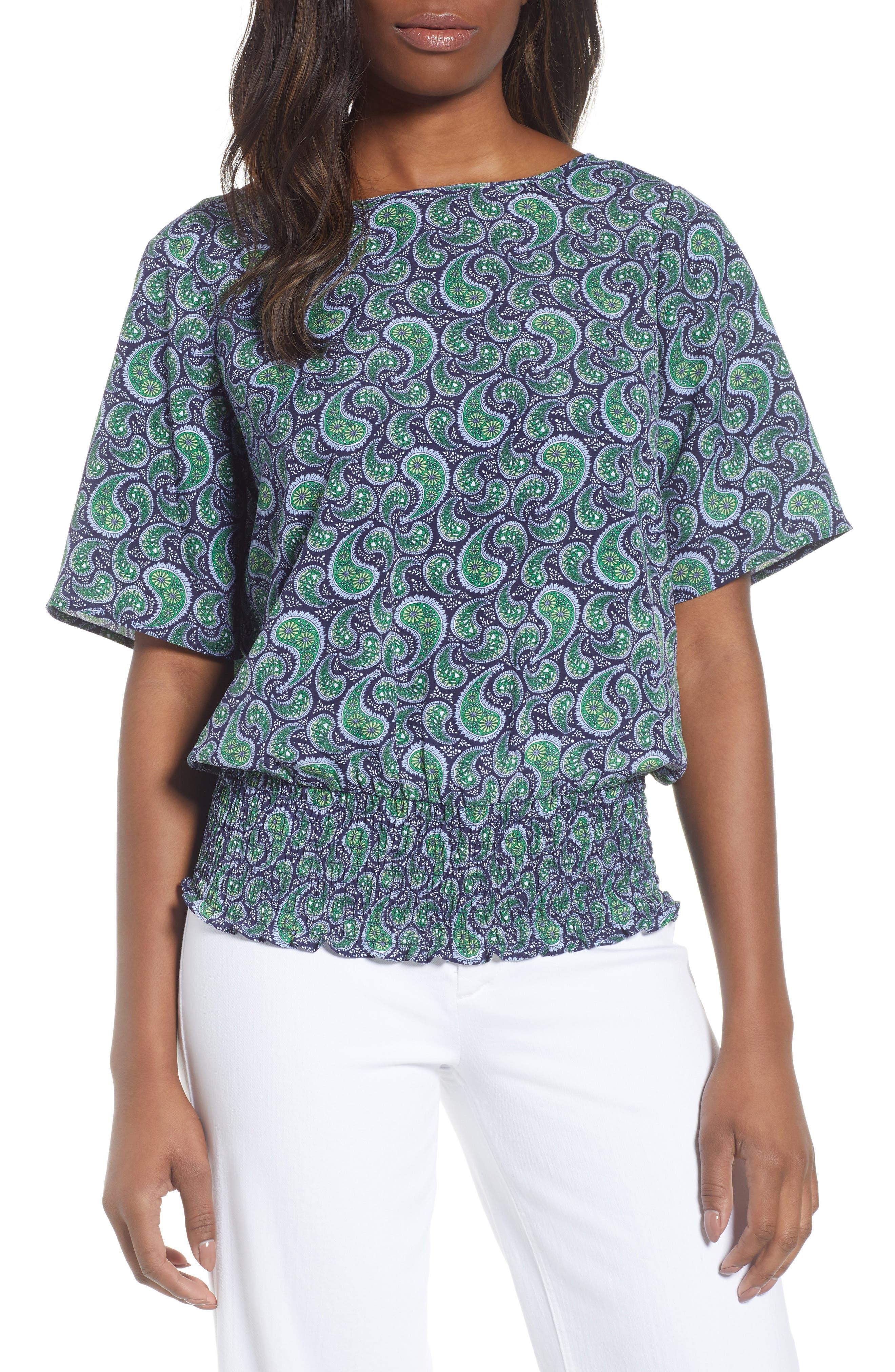 Kimono Sleeve Paisley Top,                         Main,                         color,