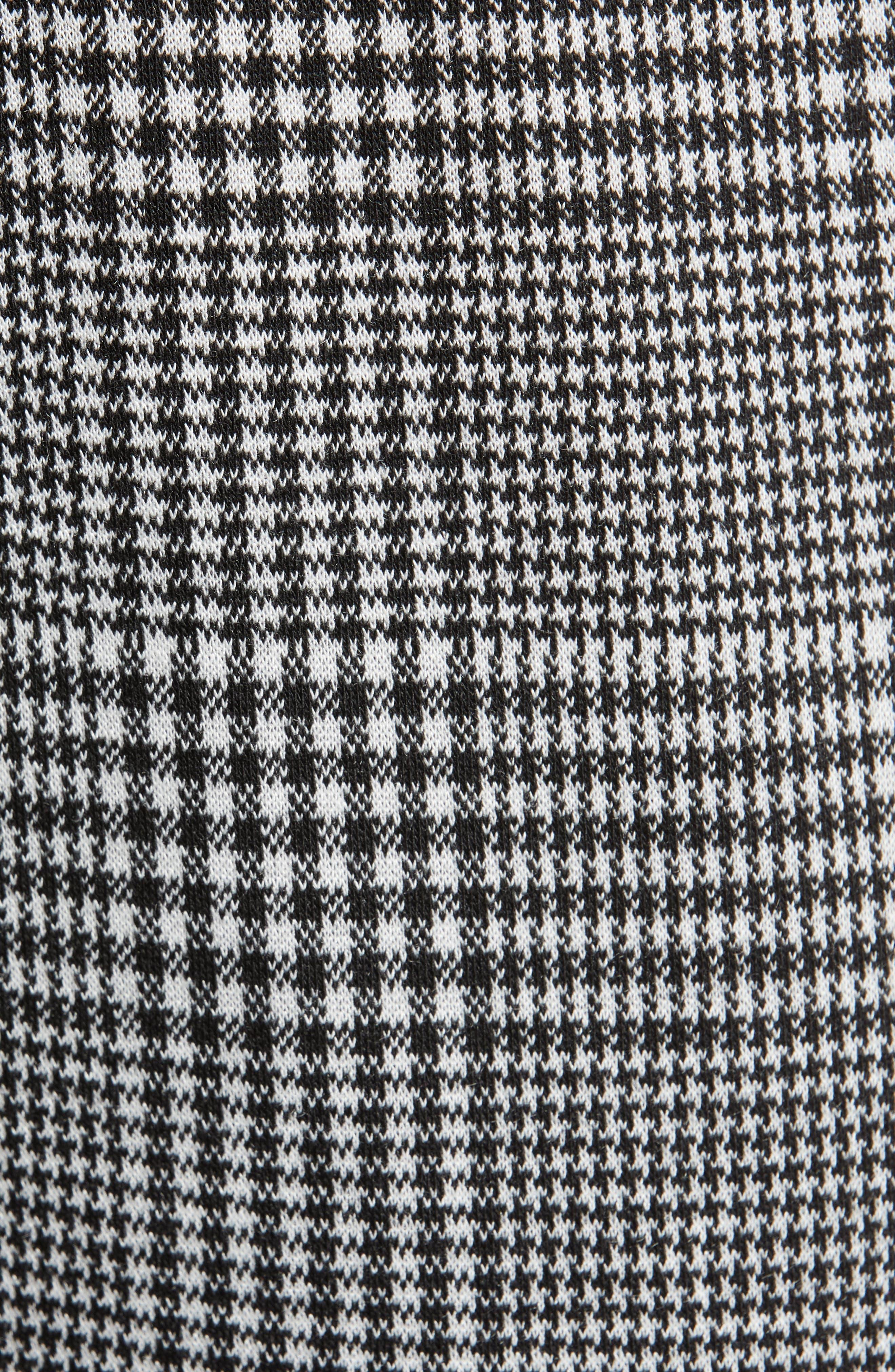 Side Stripe Glen Plaid Pants,                             Alternate thumbnail 6, color,                             BLACK GLEN CHECK