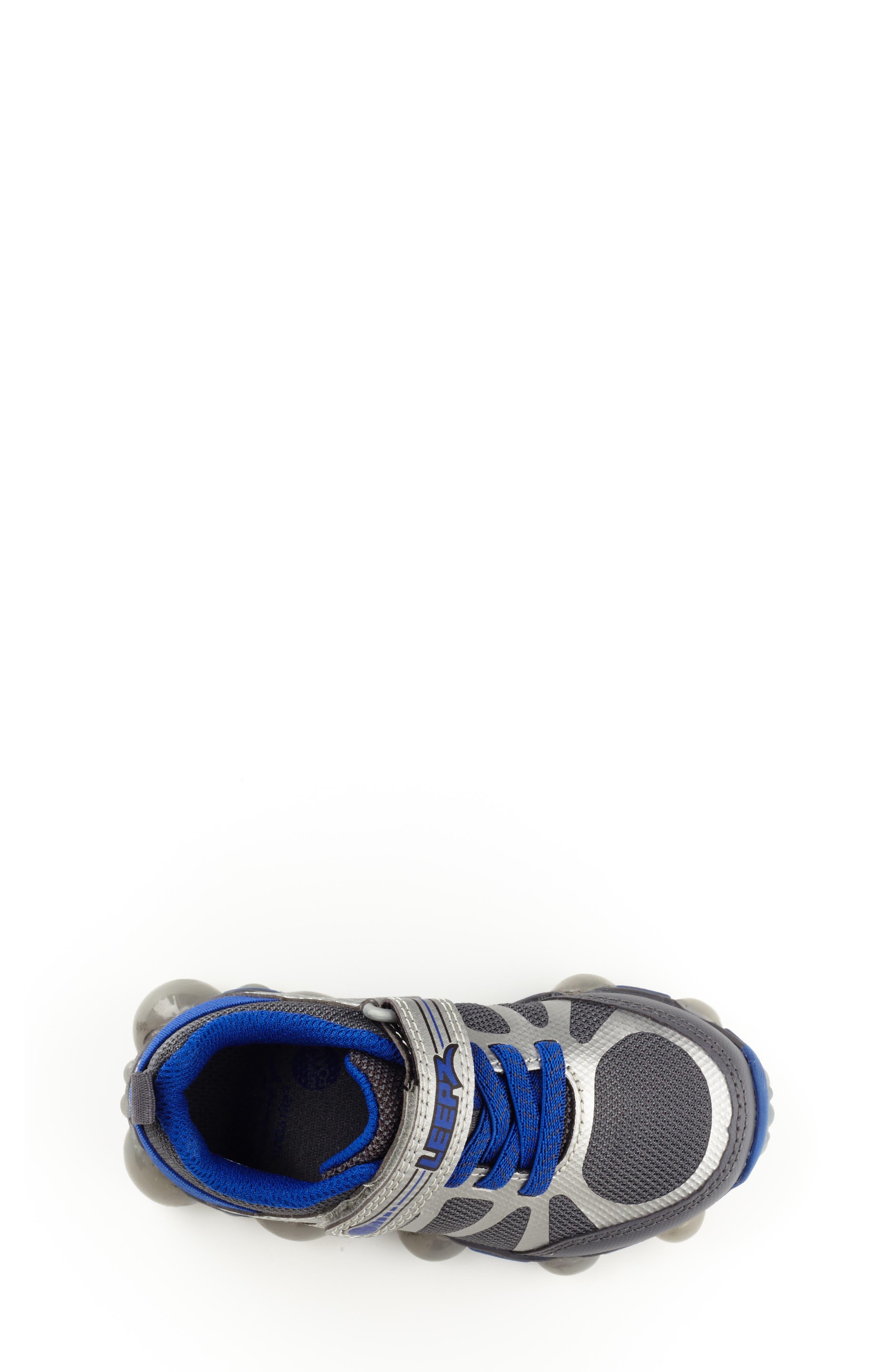 Leepz 3.0 Light-Up Sneaker,                             Alternate thumbnail 4, color,                             DARK GREY/ BLUE