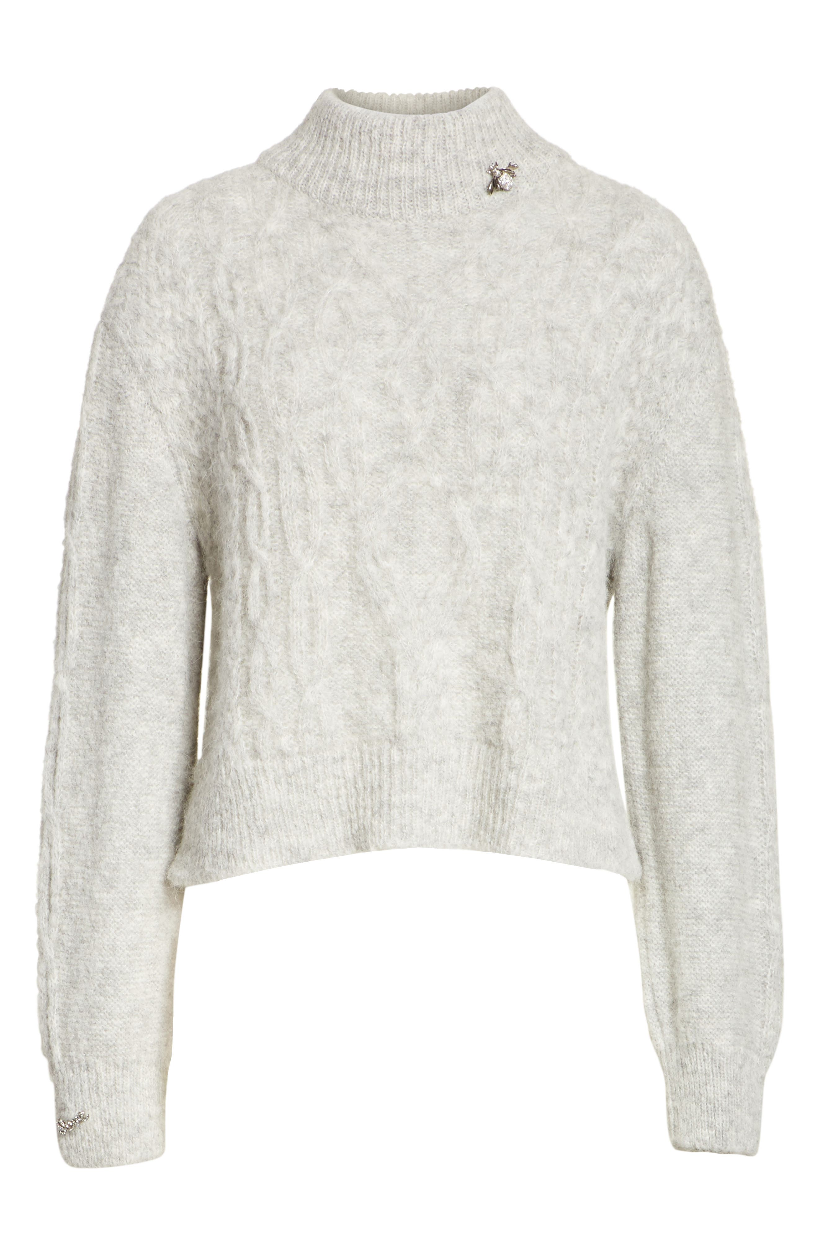 Garlan Mock Neck Sweater,                             Alternate thumbnail 6, color,                             051