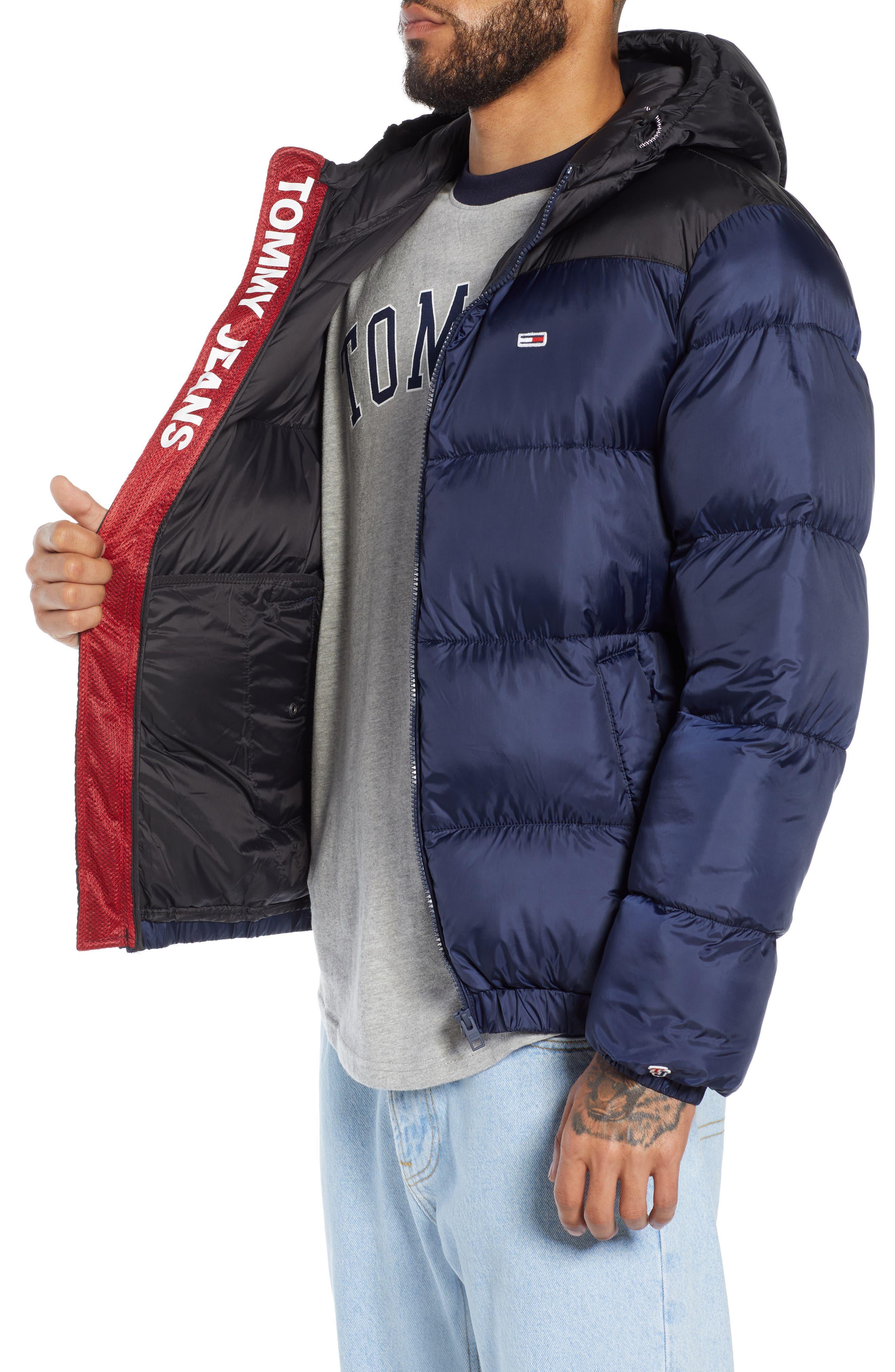 Classics Hooded Jacket,                             Alternate thumbnail 3, color,                             BLACK IRIS / TOMMY BLACK