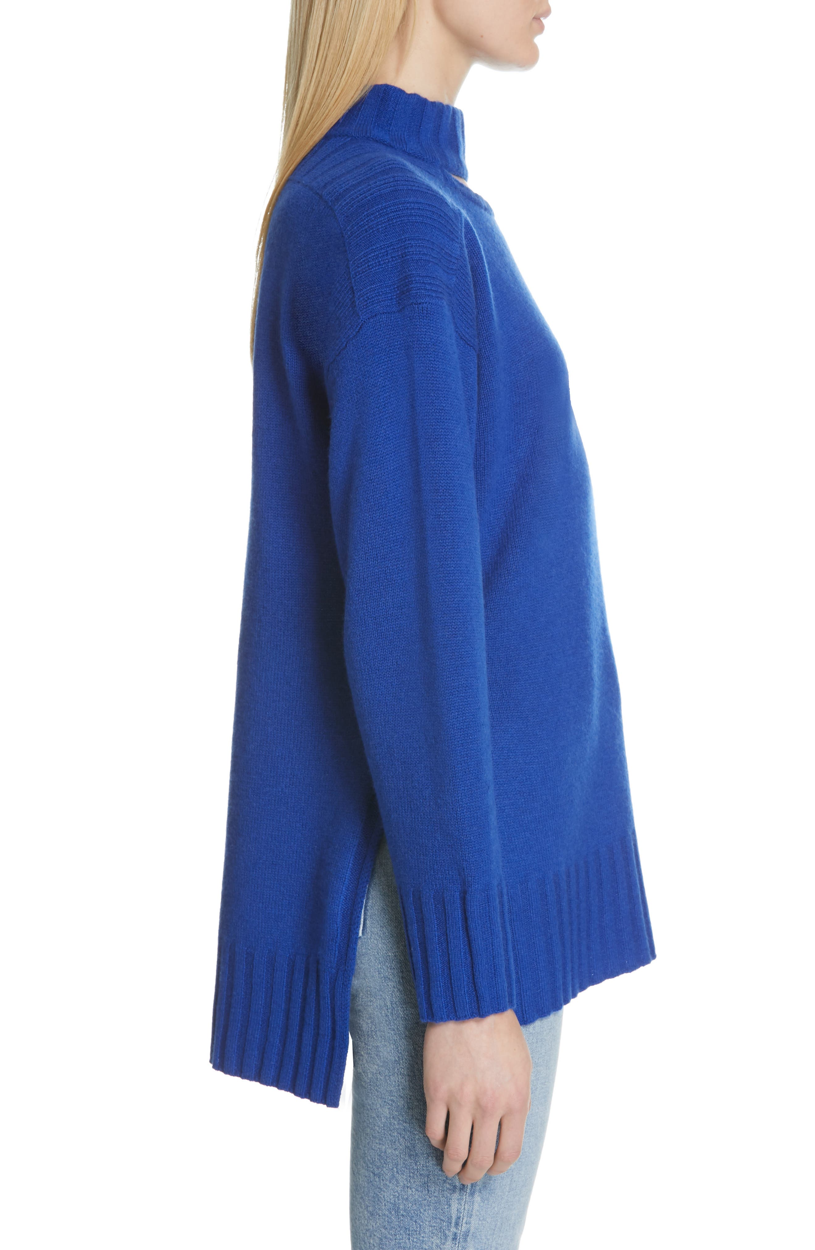 Stratford Wool & Cashmere Sweater,                             Alternate thumbnail 3, color,                             HYPER BLUE