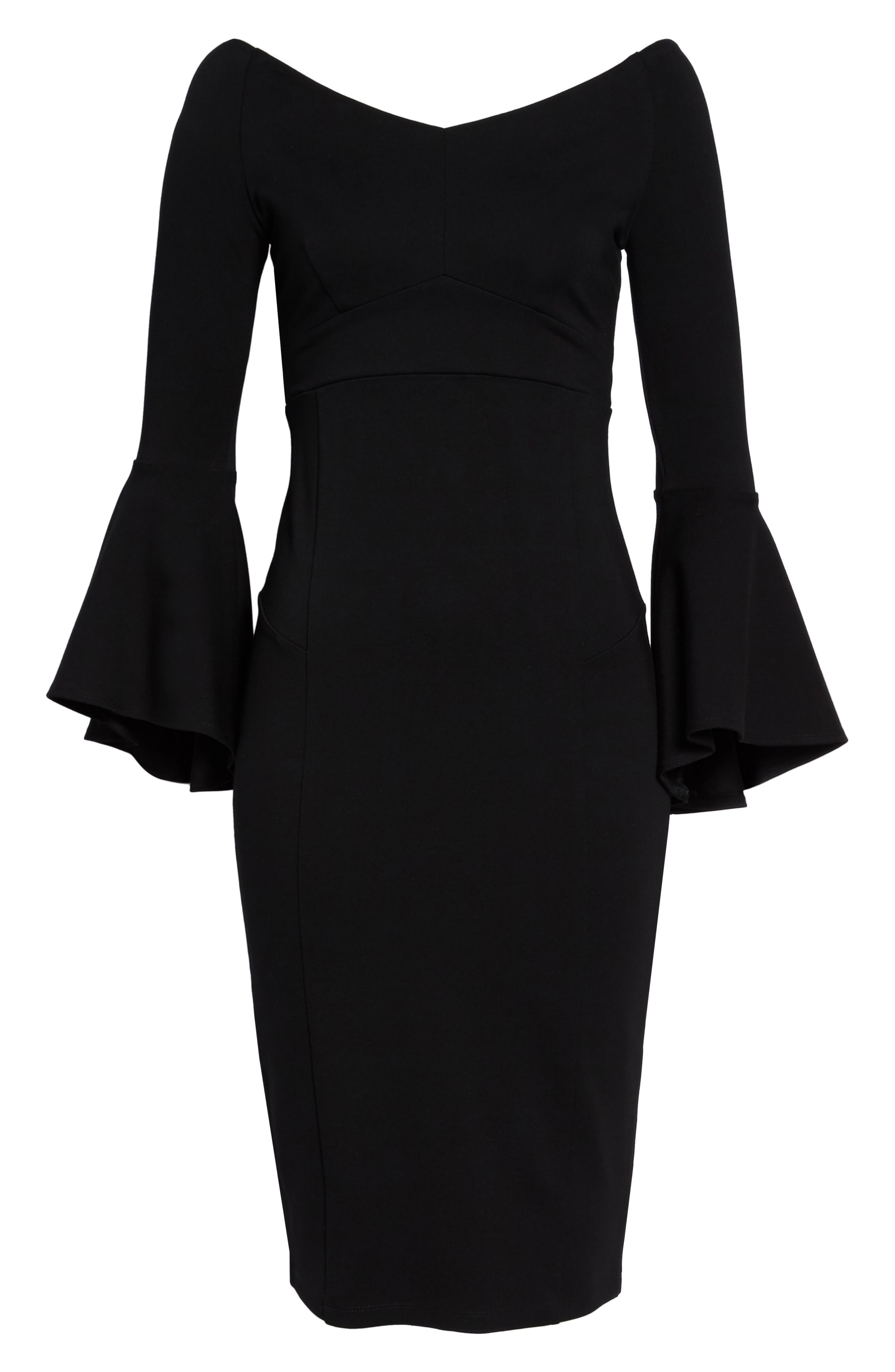 Milly Bell Sleeve Midi Dress,                             Alternate thumbnail 6, color,                             401