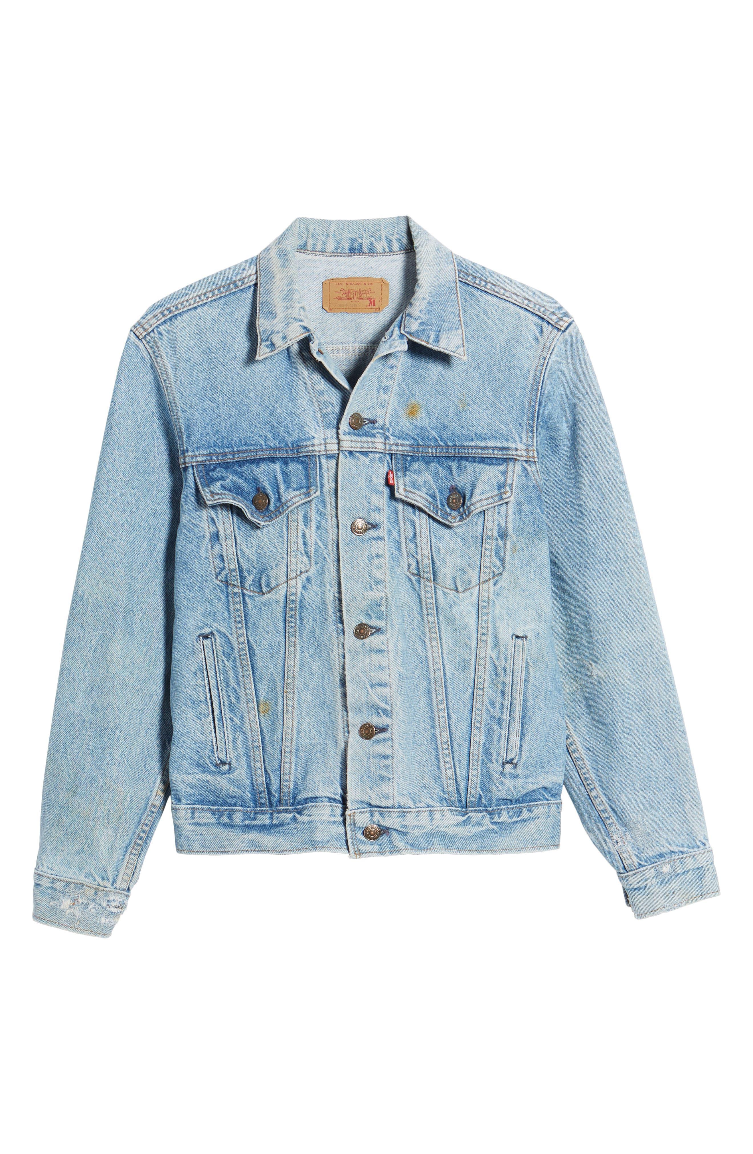 Authorized Vintage Trucker Jacket,                             Alternate thumbnail 5, color,                             AV BLUE