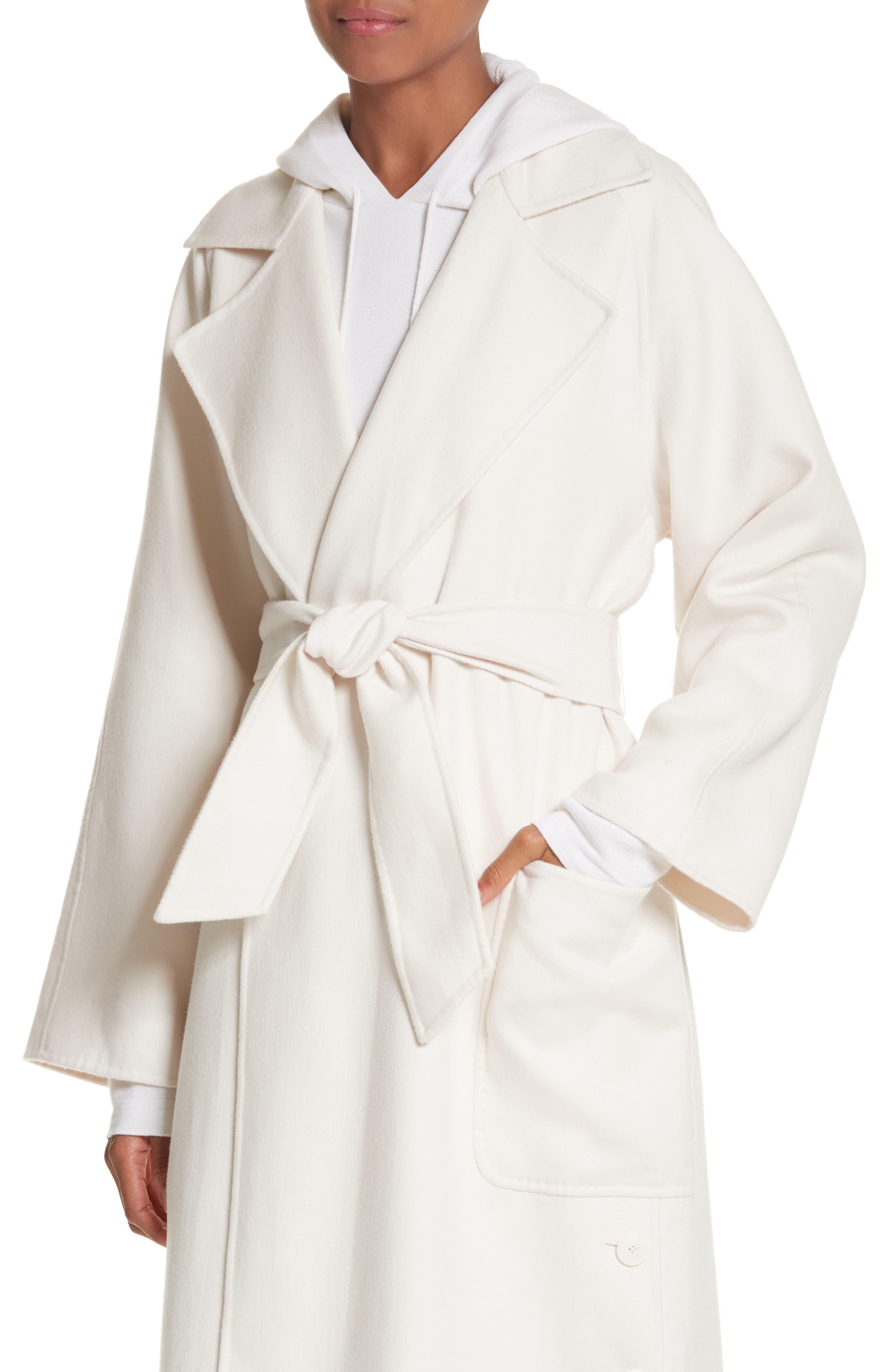 Alacre Wool & Cashmere Coat,                             Alternate thumbnail 4, color,                             110