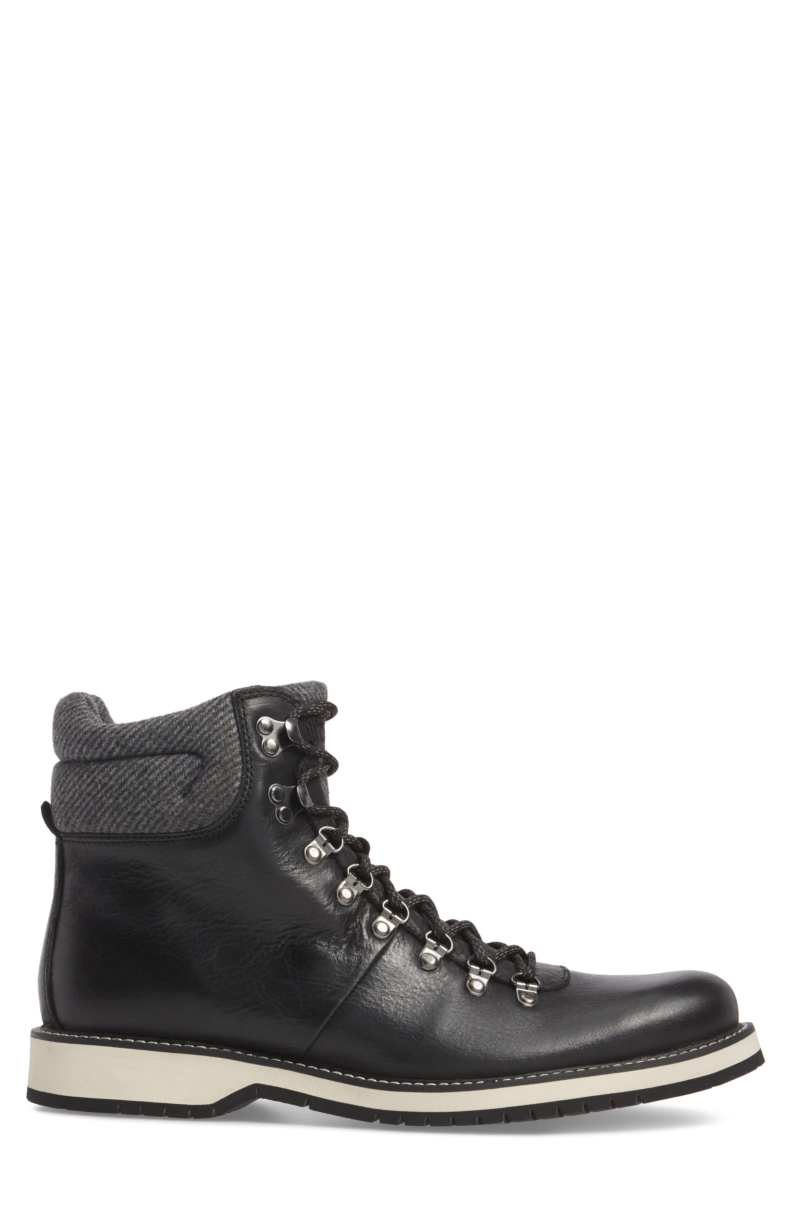 Sidney Waterproof Plain Toe Boot,                             Alternate thumbnail 3, color,                             001