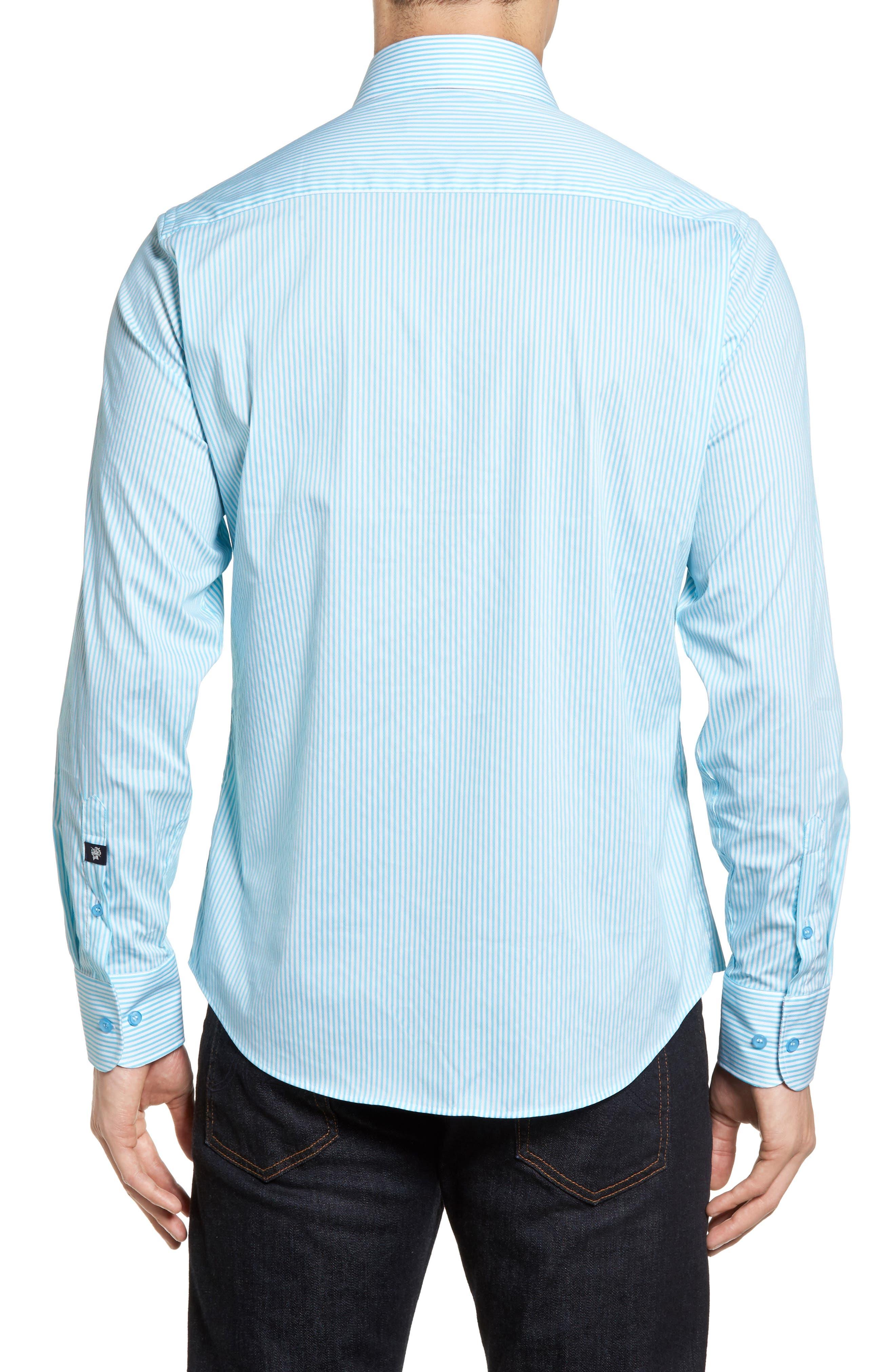 Technical Stripe Sport Shirt,                             Alternate thumbnail 5, color,