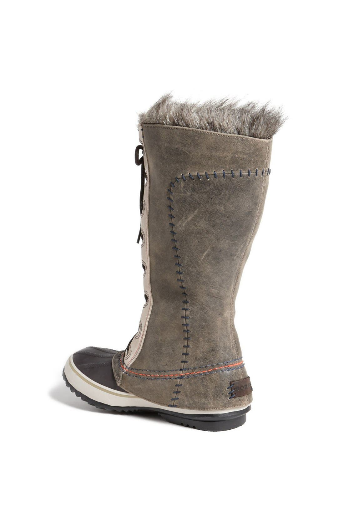 'Cate the Great - Deco' Waterproof Suede Duck Boot,                             Alternate thumbnail 3, color,                             099