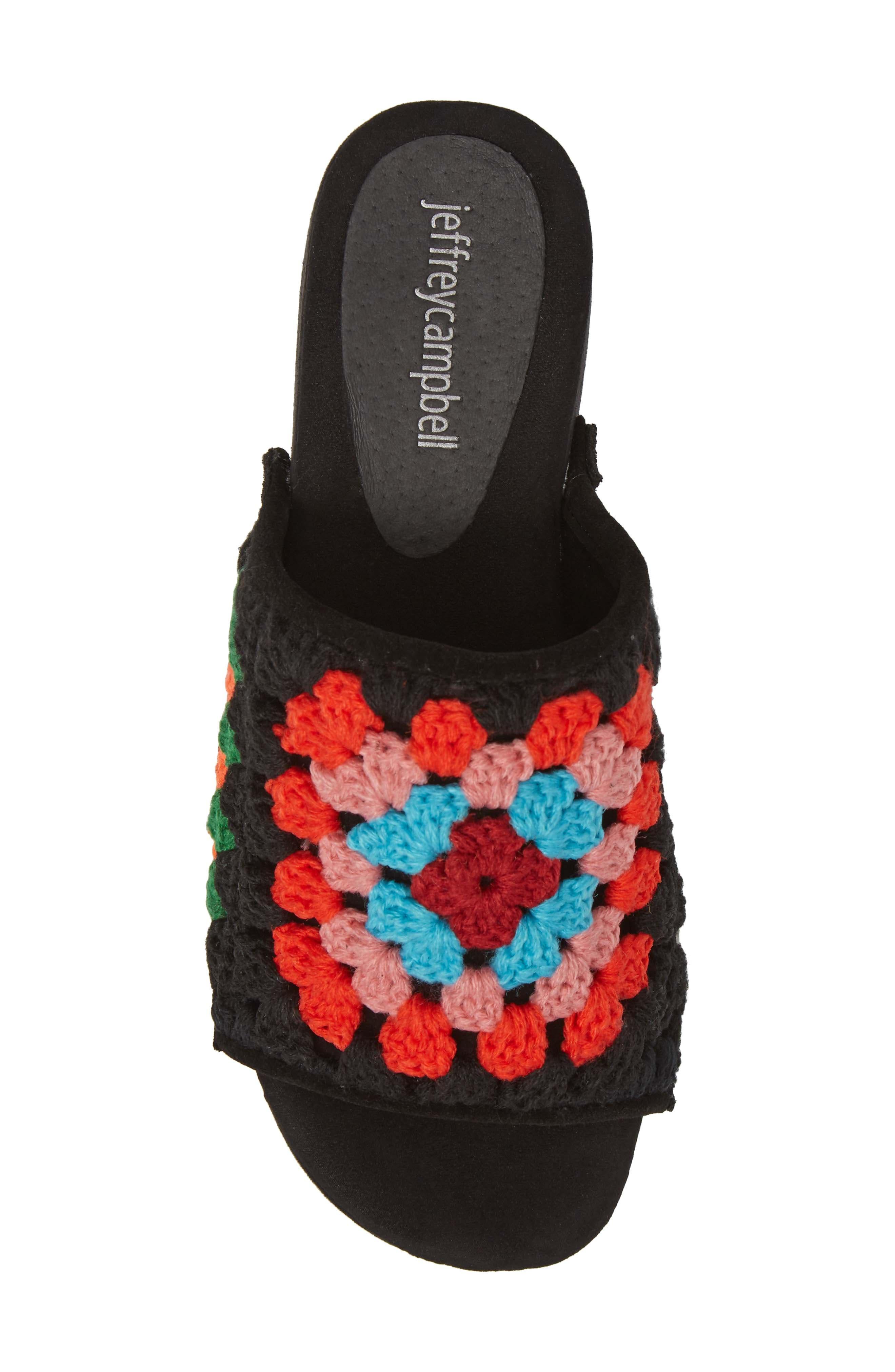Nonna Crocheted Platform Slide Sandal,                             Alternate thumbnail 5, color,