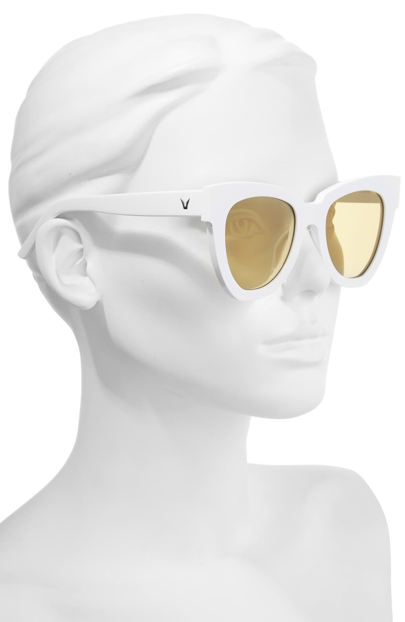 Laser 51mm Cat Eye Sunglasses,                             Alternate thumbnail 5, color,