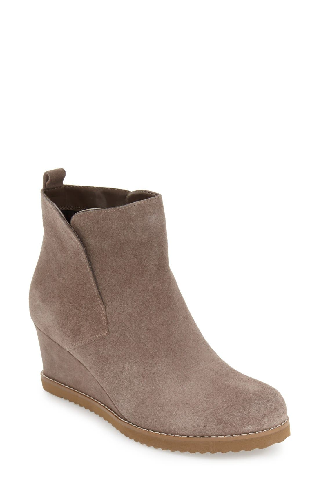 'Karla' Waterproof Wedge Bootie,                             Main thumbnail 1, color,