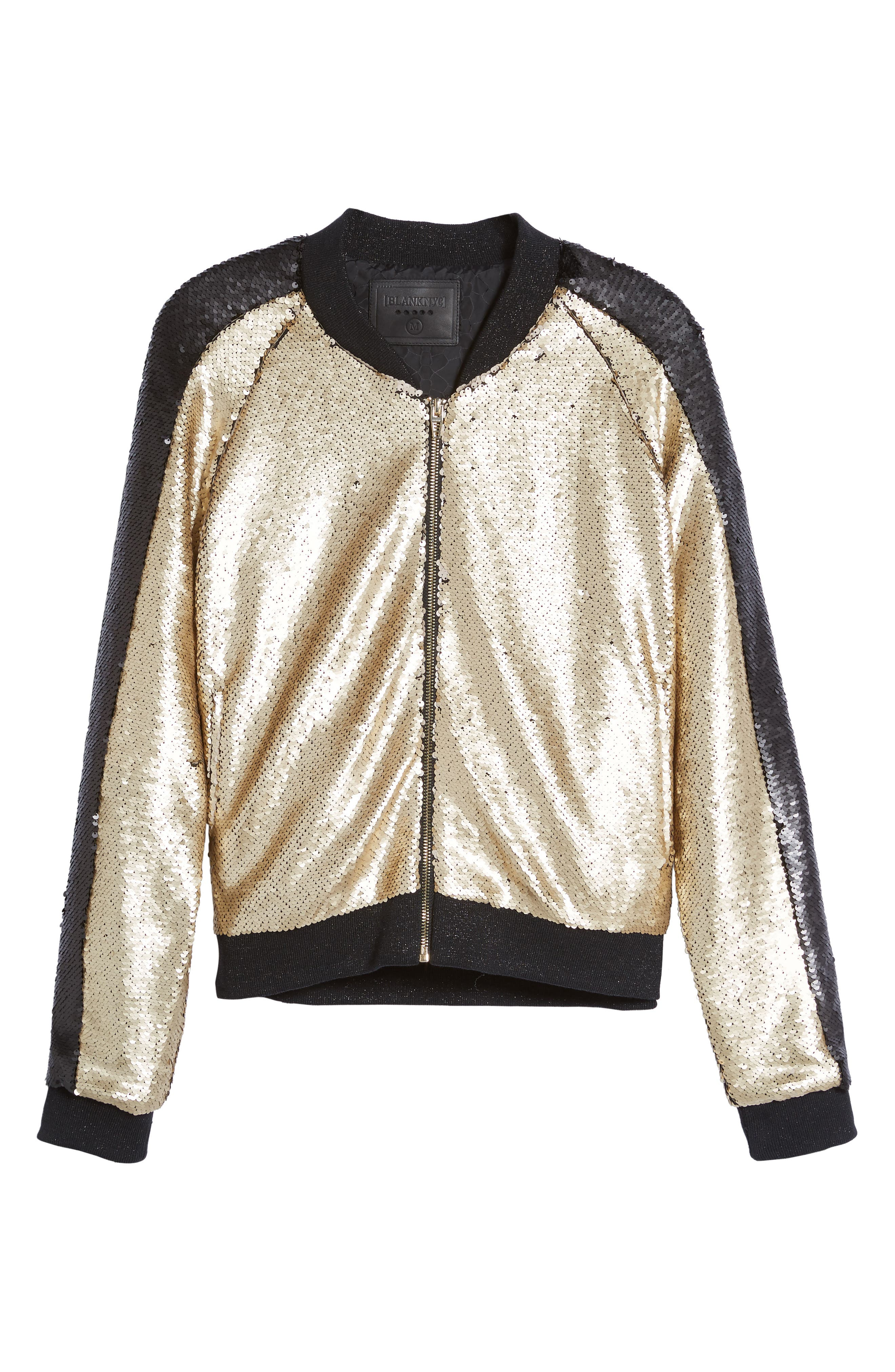 Sequin Bomber Jacket,                             Alternate thumbnail 5, color,                             710