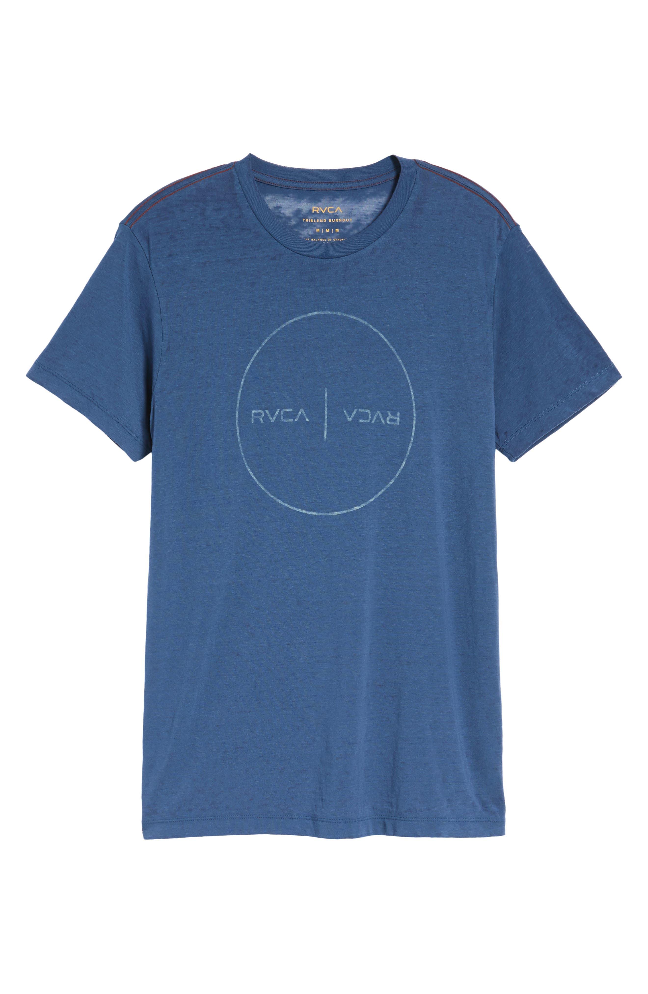 Flipped Perimeter Burnout T-Shirt,                             Alternate thumbnail 18, color,