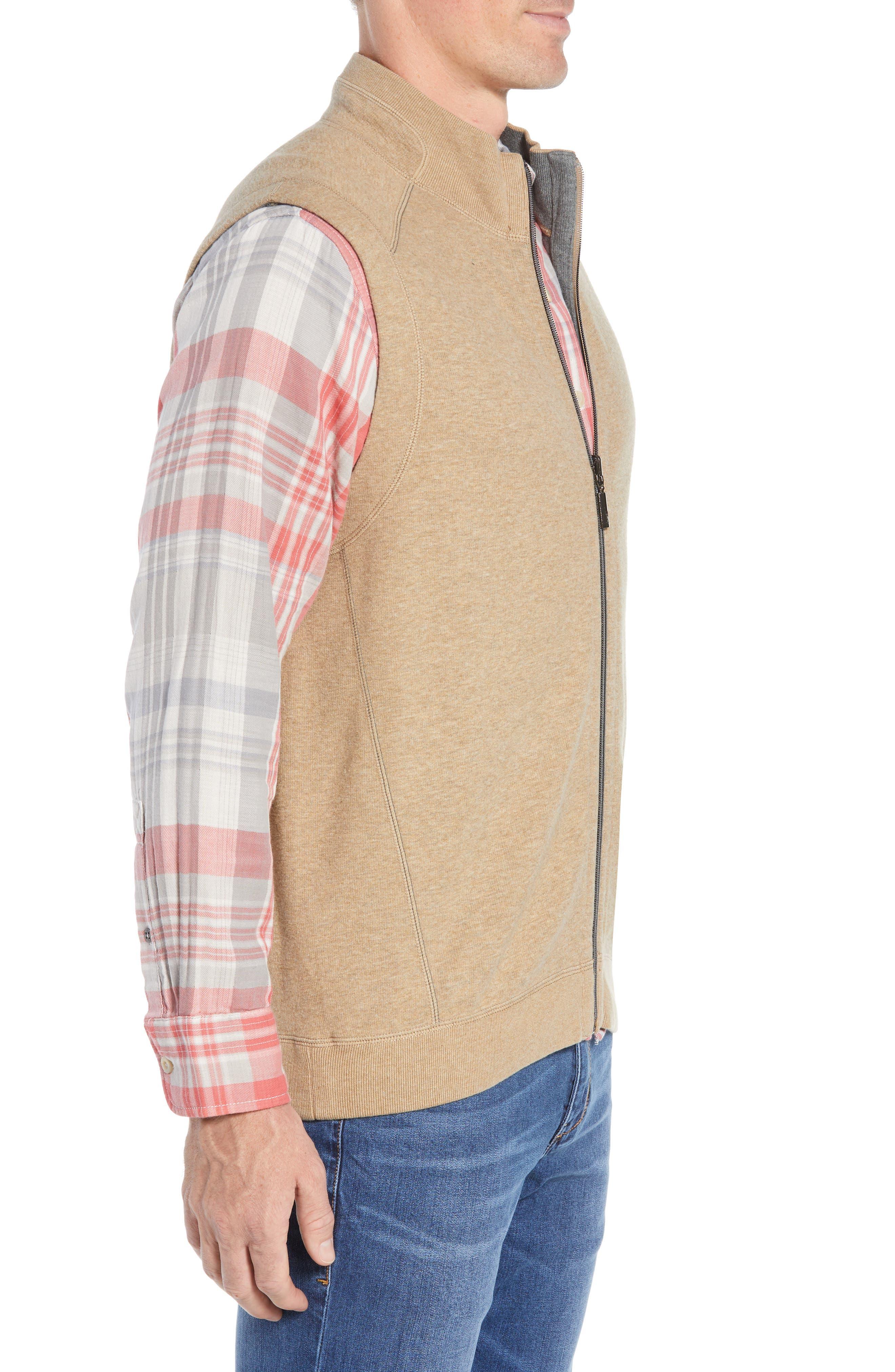 Flip Side Reversible Zip Vest,                             Alternate thumbnail 4, color,                             GOLDEN HONEY HEATHER