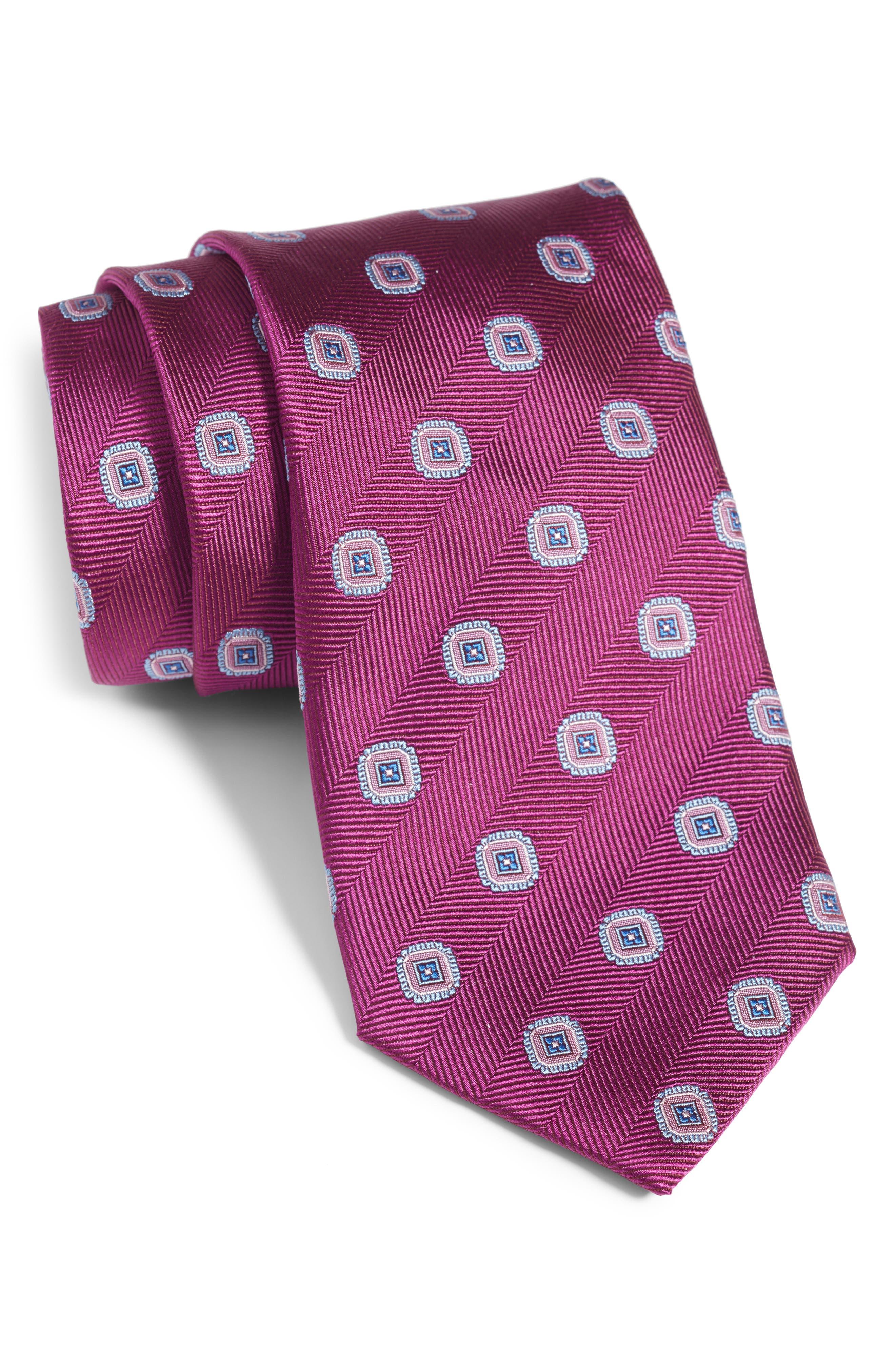 Medallion Silk Tie,                             Main thumbnail 3, color,