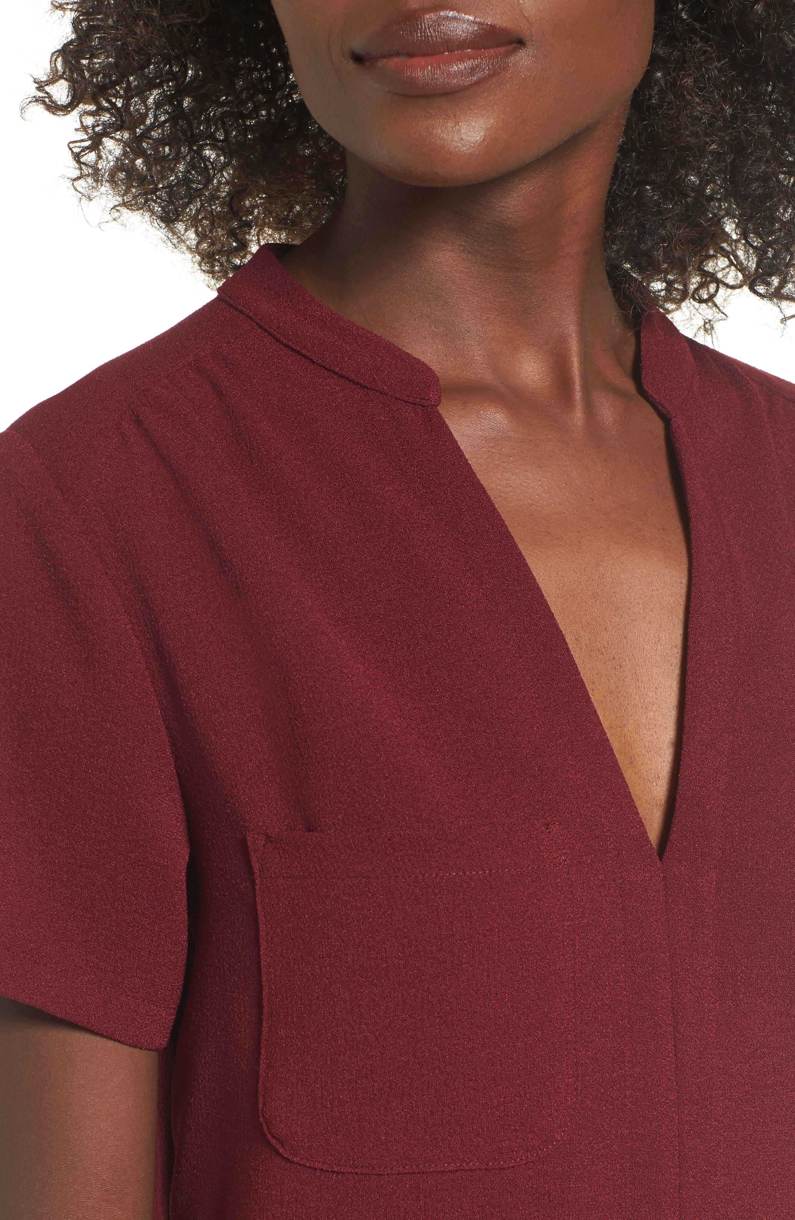 Hailey Crepe Dress,                             Alternate thumbnail 105, color,