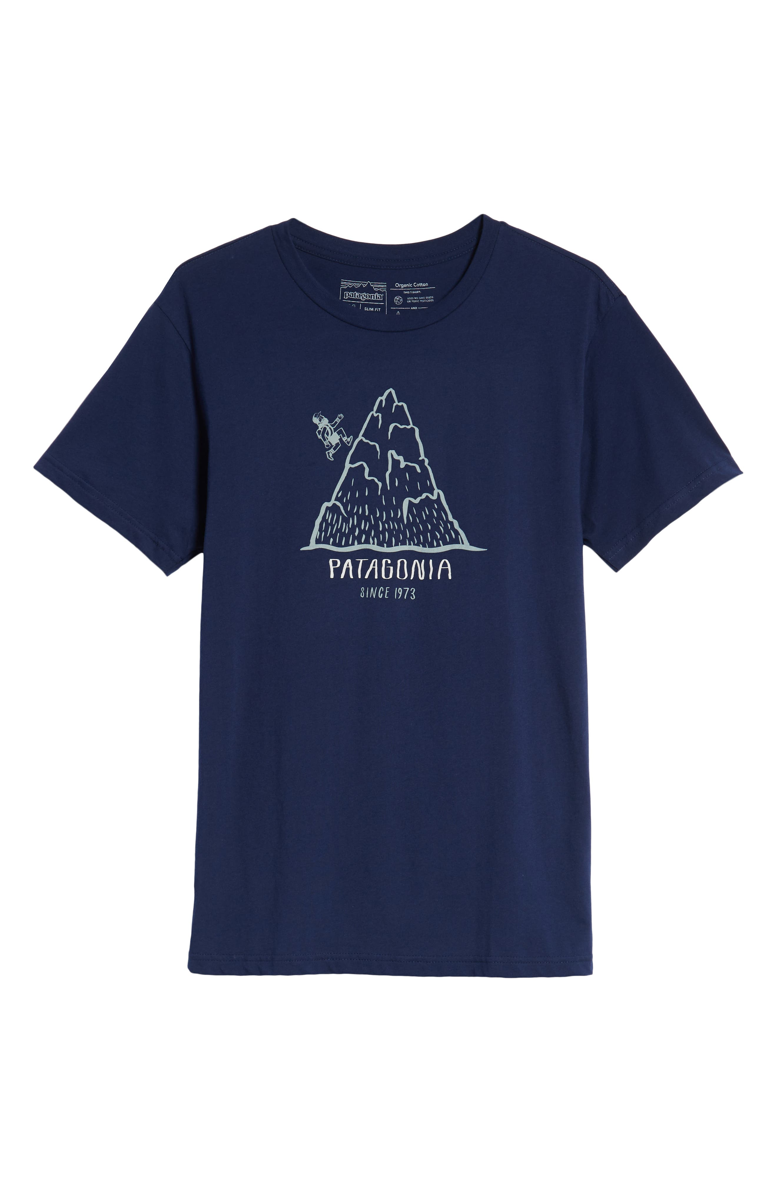 Hoofin It Organic Cotton Graphic T-Shirt,                             Alternate thumbnail 6, color,                             CLASSIC NAVY