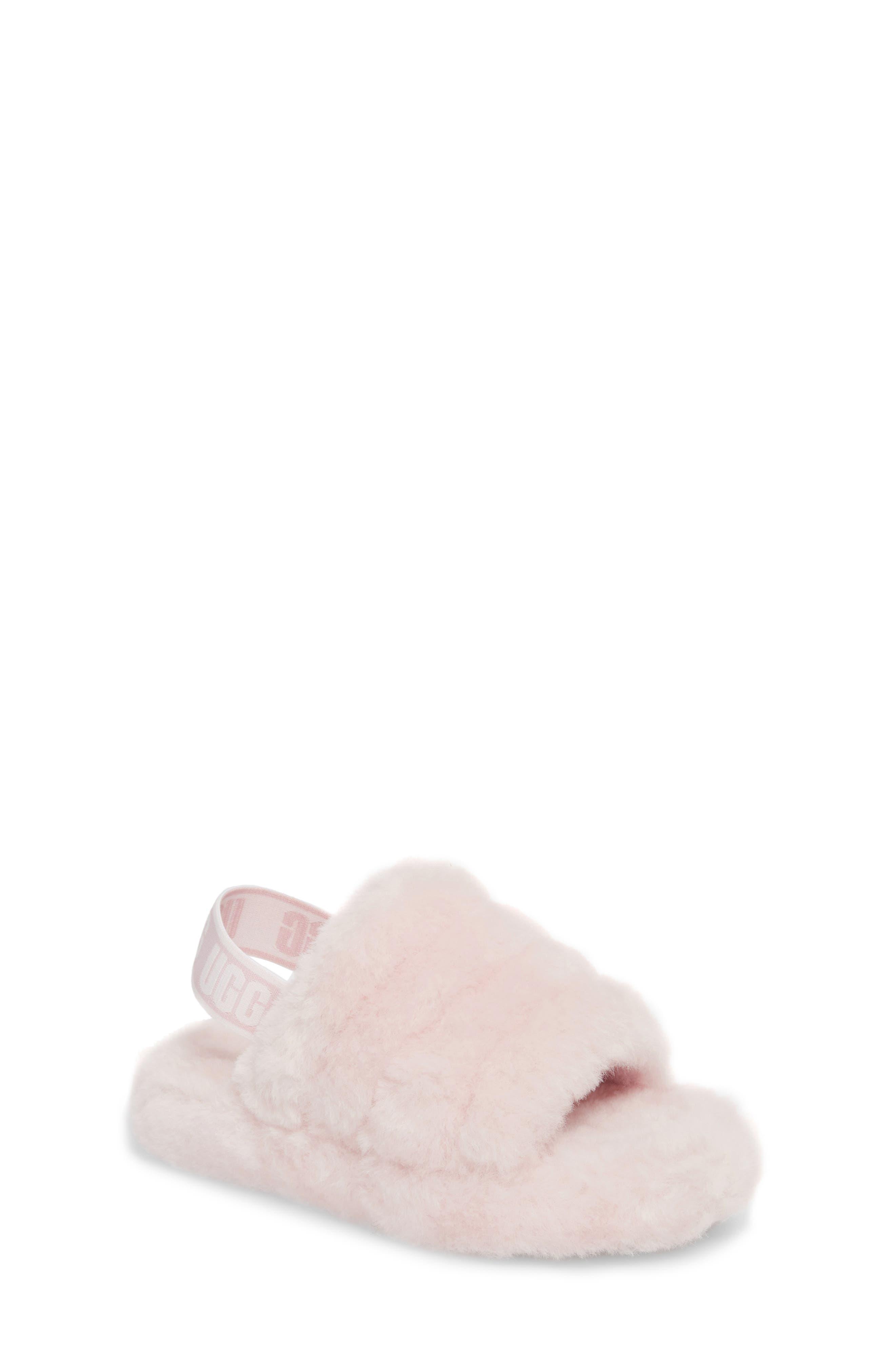 Girls Ugg Fluff Yeah Slide Sandal Size 5 M  Pink