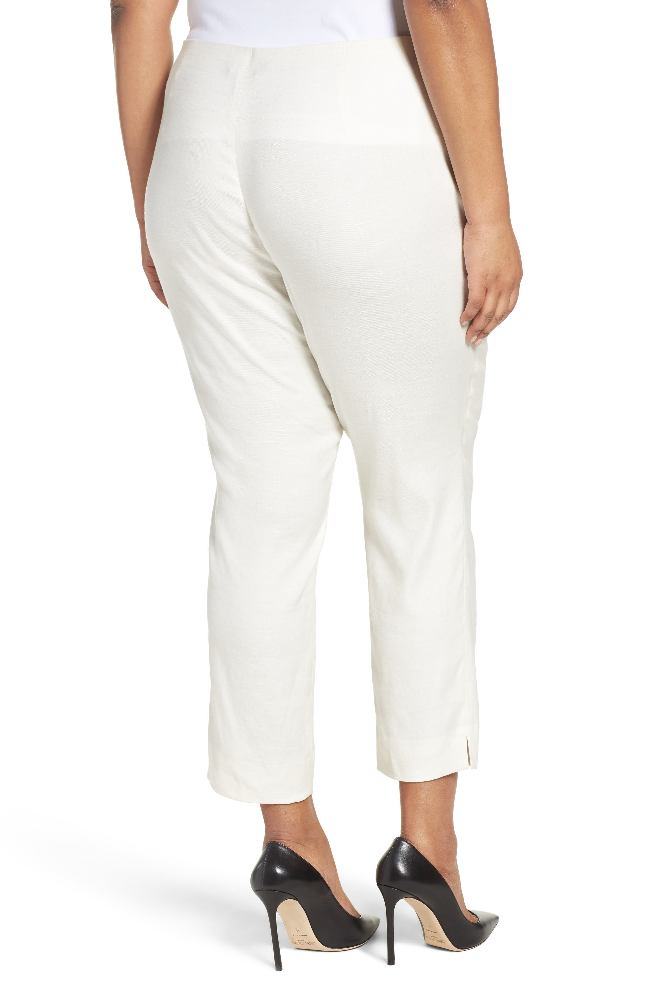 Luxe Linen Blend Pants,                             Alternate thumbnail 2, color,                             BONE