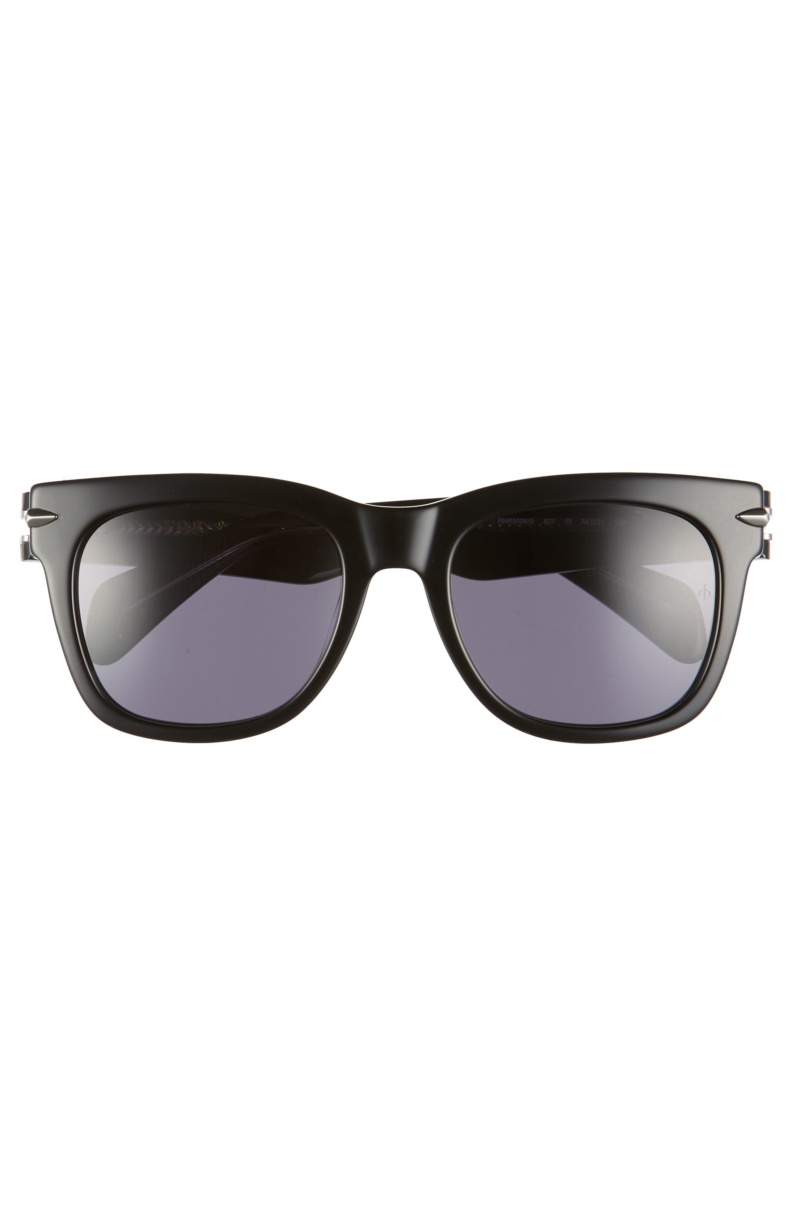 54mm Polarized Sunglasses,                             Alternate thumbnail 3, color,                             BLACK