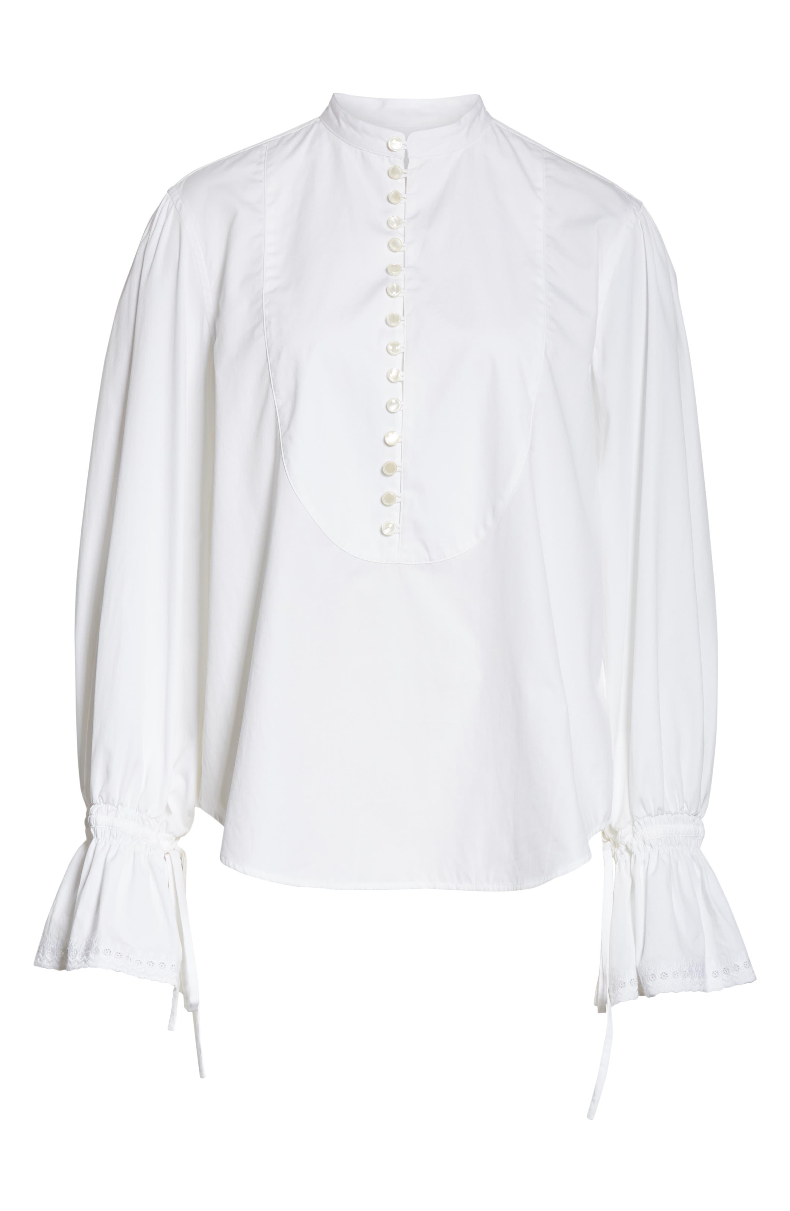Tie Sleeve Shirt,                             Alternate thumbnail 6, color,                             100