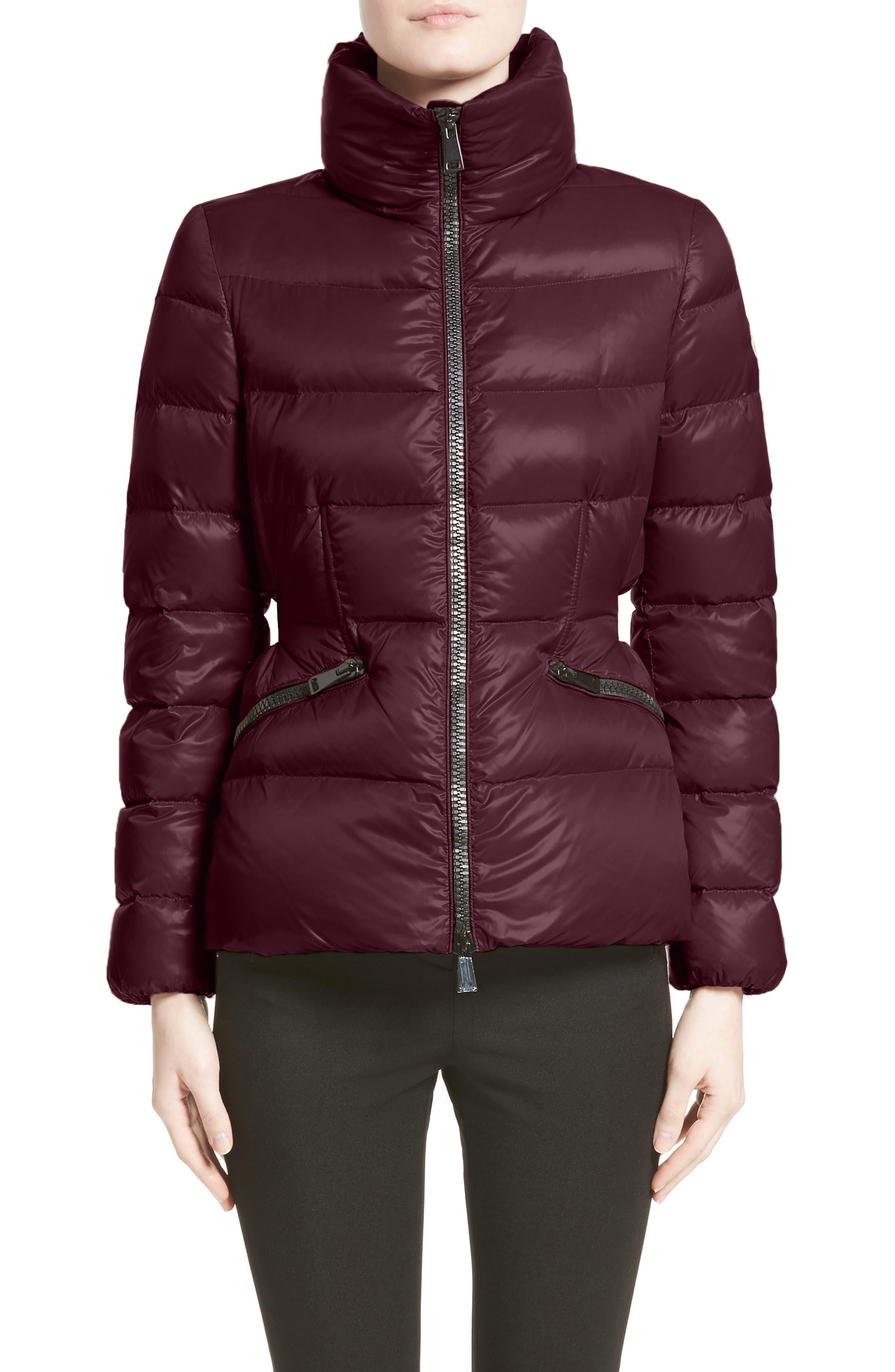 Danae Down Puffer Jacket,                         Main,                         color, BURGUNDY