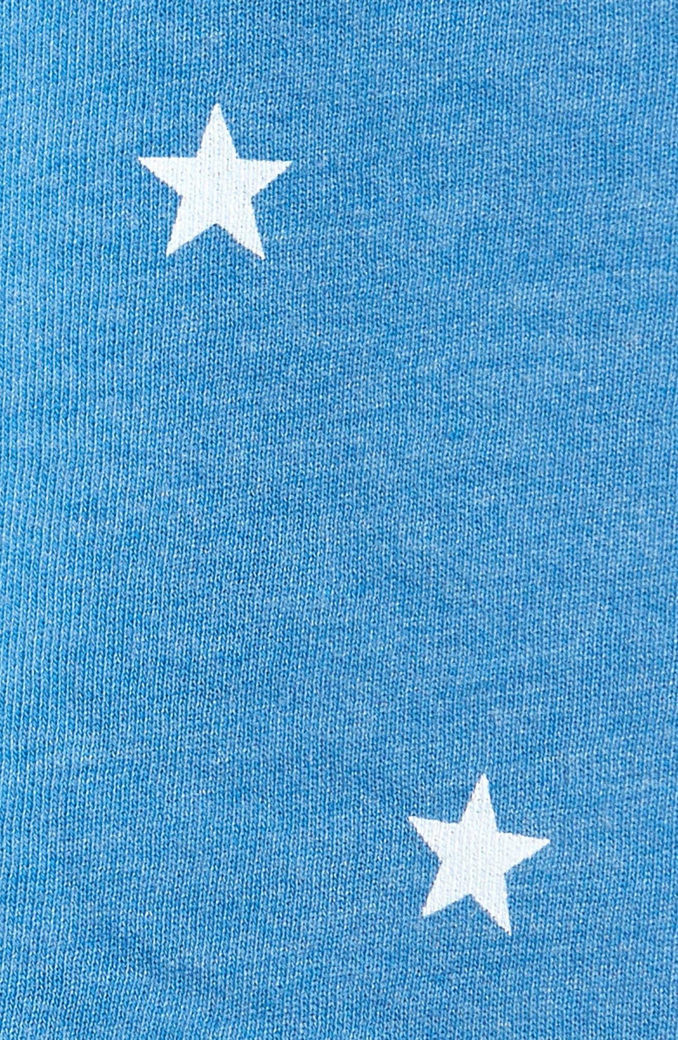 Football Star Hutton Hoodie,                             Alternate thumbnail 6, color,                             BLUE COAST