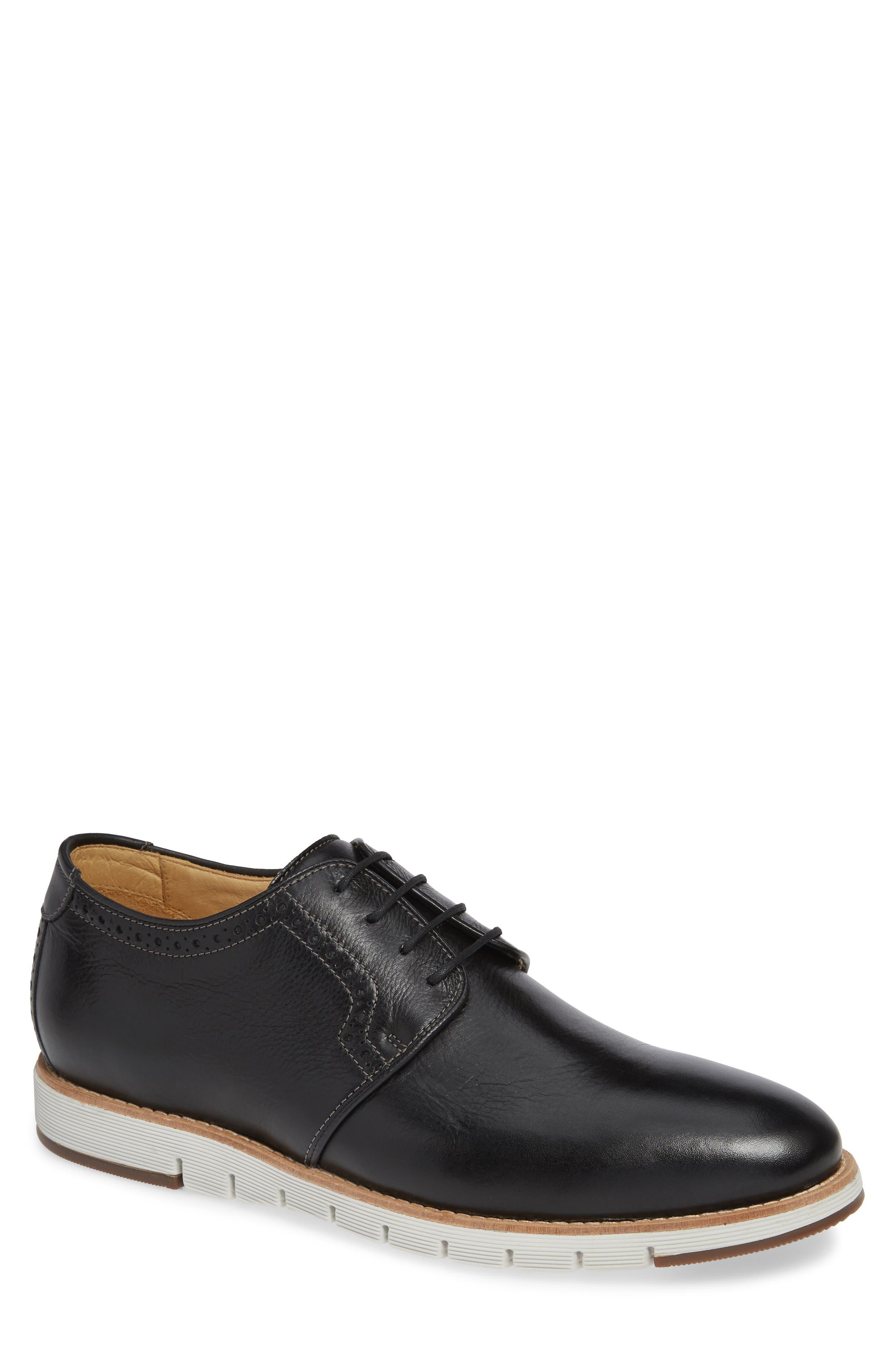 Martell Plain Toe Derby,                         Main,                         color, BLACK LEATHER