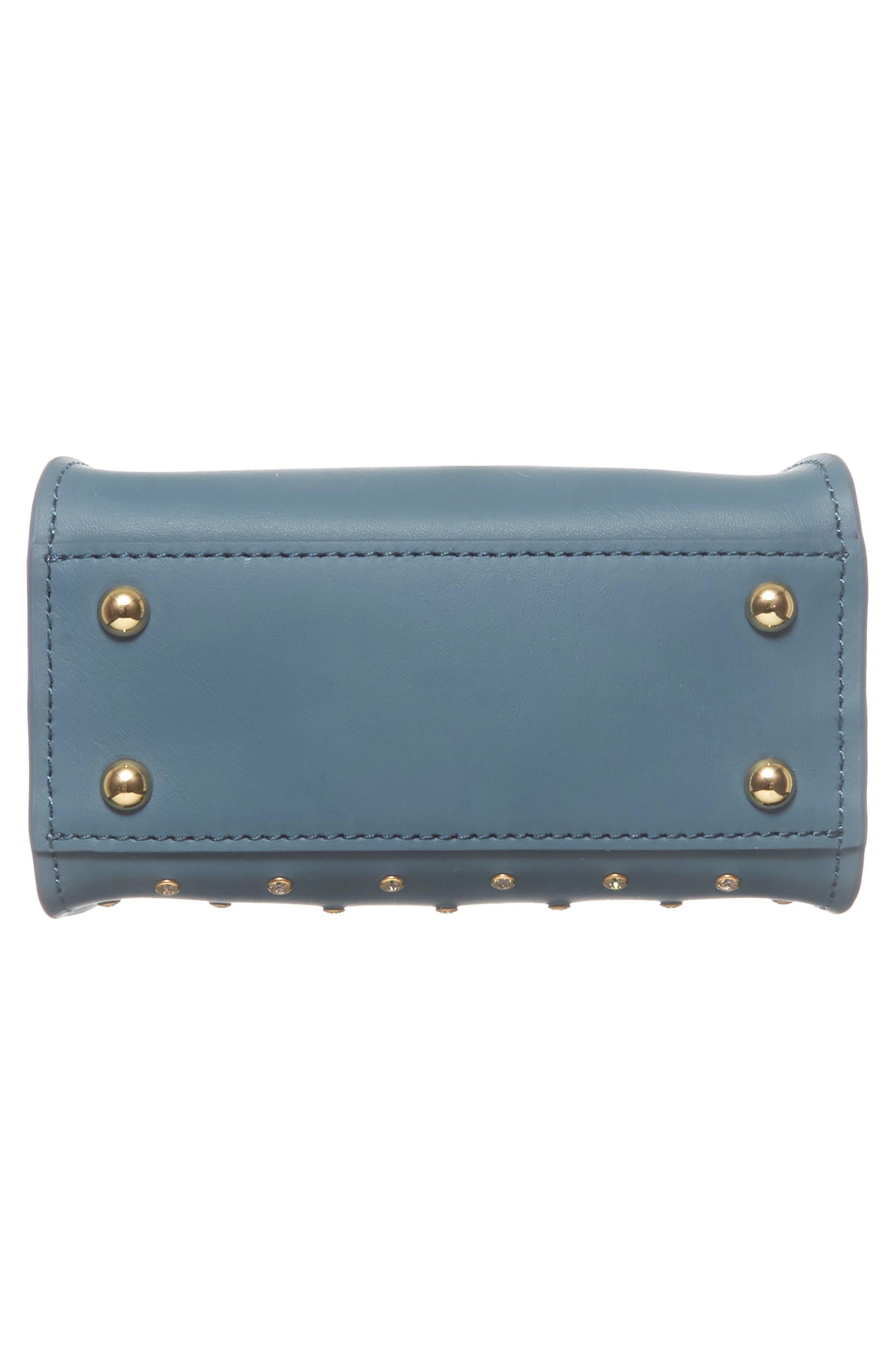 Mini Eartha Crystal Top Handle Bag,                             Alternate thumbnail 6, color,                             420