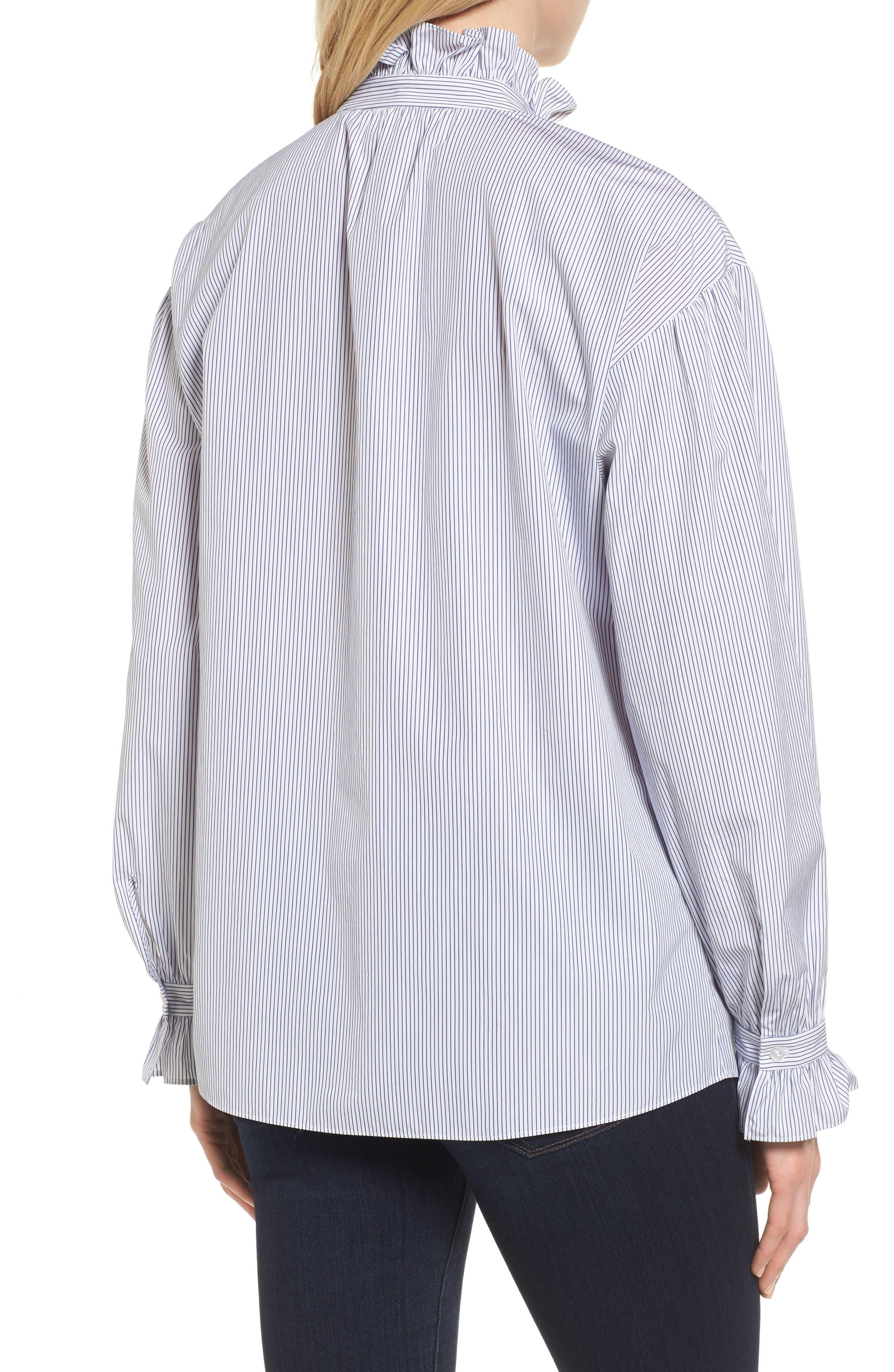 Ruffle Stripe Shirt,                             Alternate thumbnail 2, color,