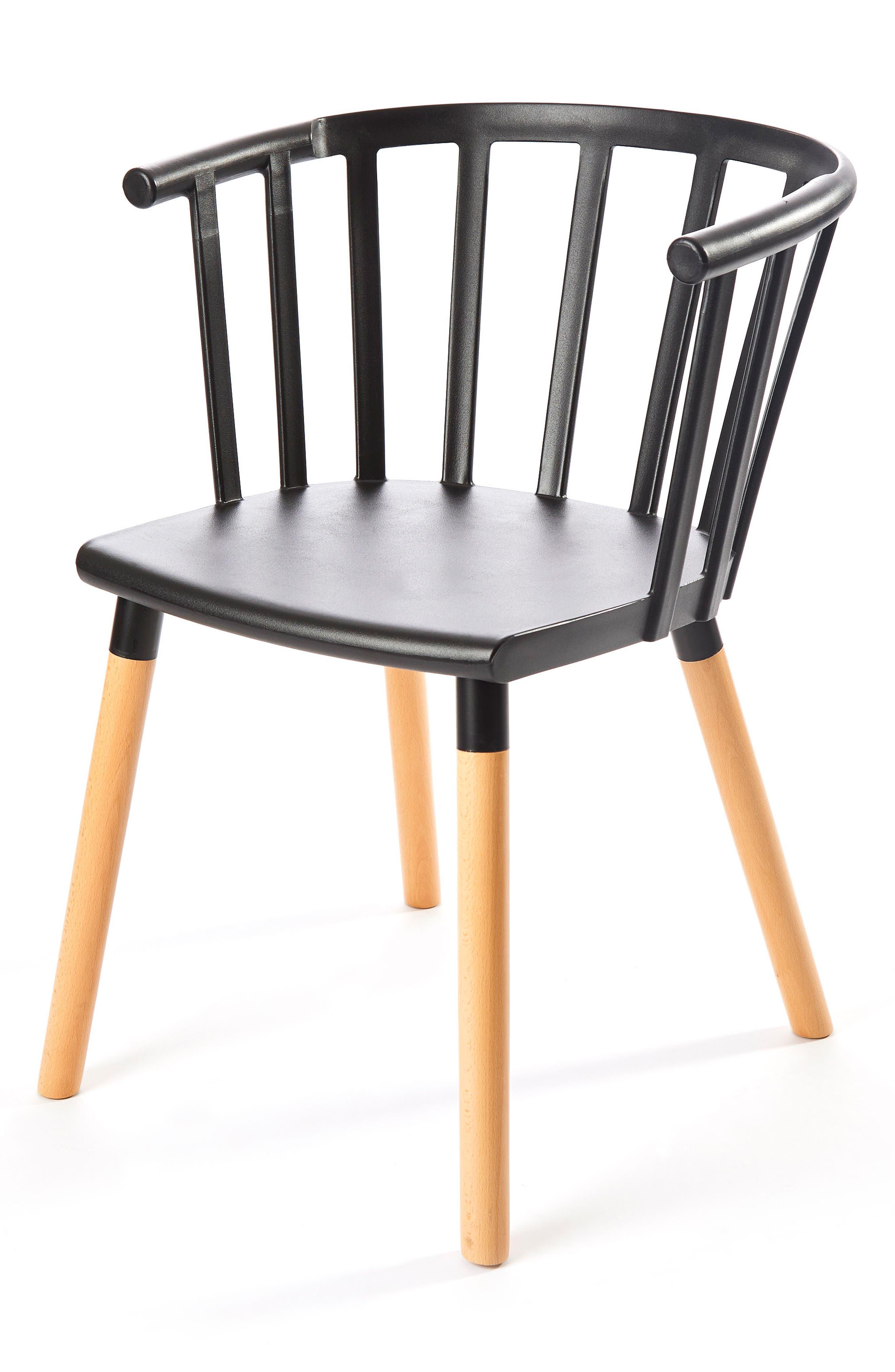 Kaptain Chair,                             Alternate thumbnail 3, color,                             MYSTERIOUS BLACK