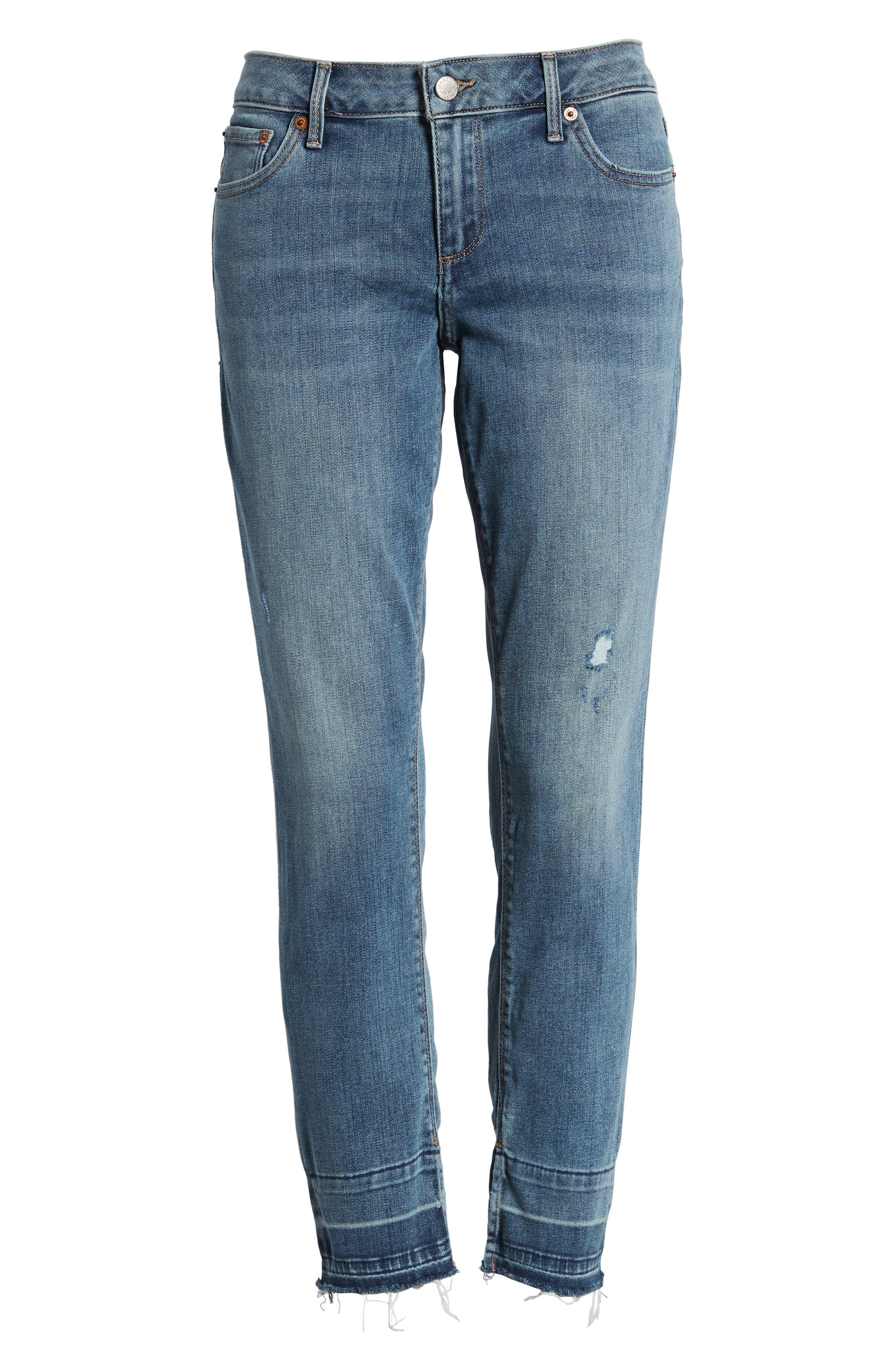 Lolita Skinny Cropped Denim Jeans,                             Alternate thumbnail 7, color,                             420