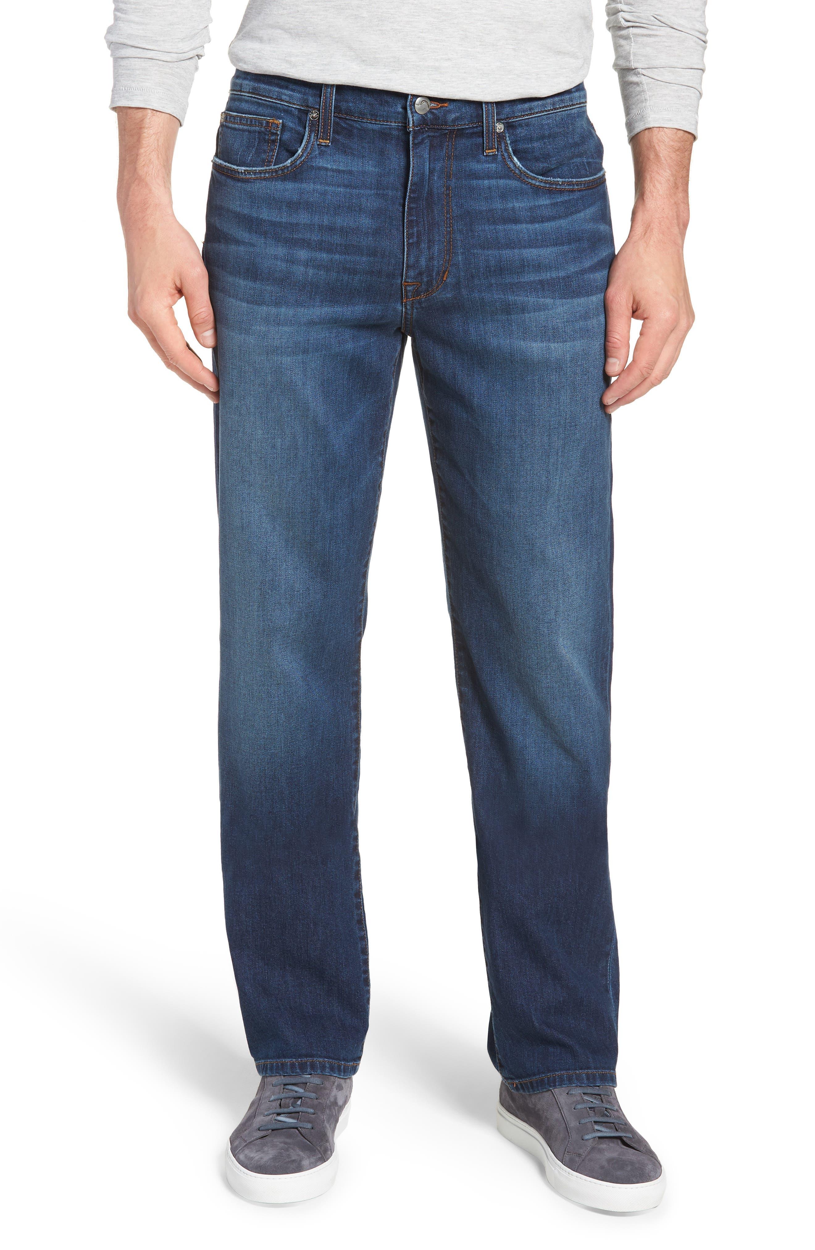 Classic Straight Leg Jeans,                             Main thumbnail 1, color,                             VALEN